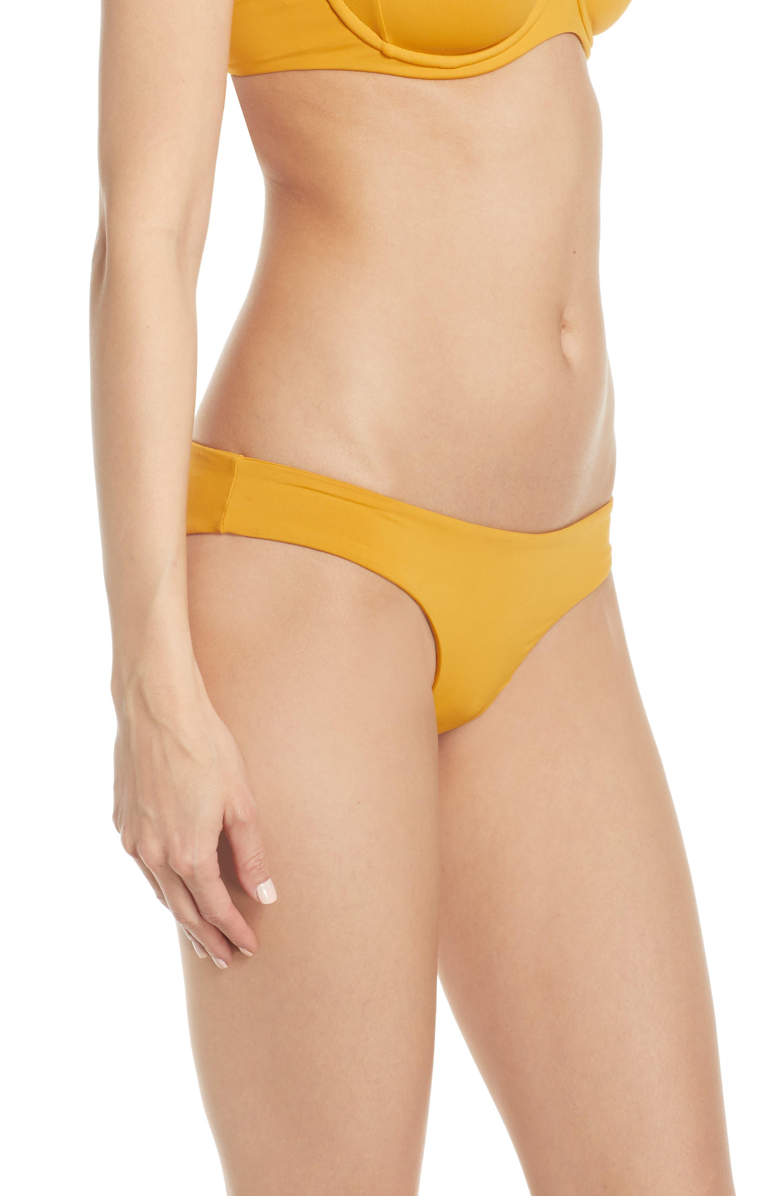 L SPACE, Sandy Classic Bikini Bottoms, Alternate thumbnail 4, color, BRONZE