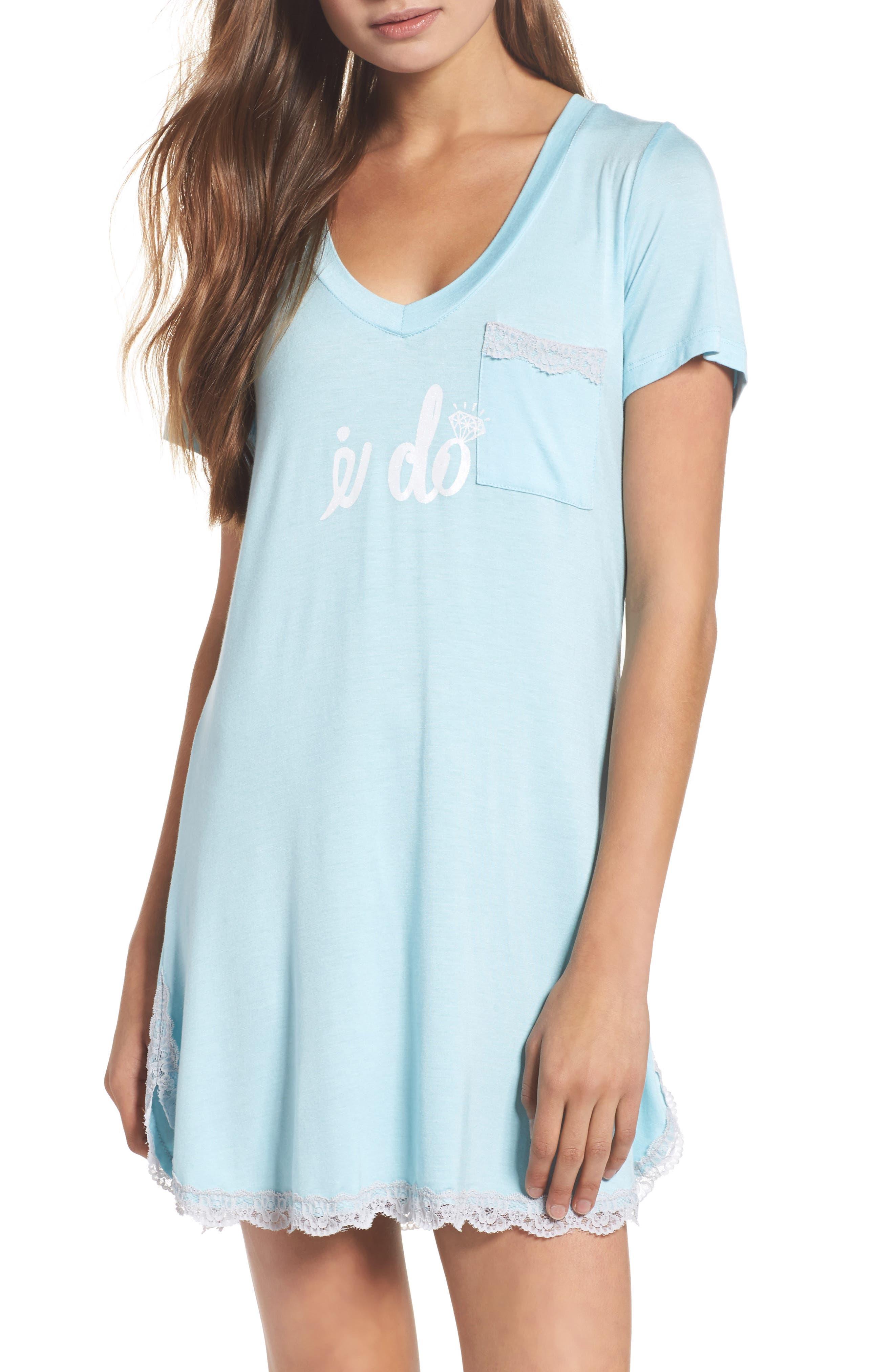 HONEYDEW INTIMATES, 'All American' Sleep Shirt, Main thumbnail 1, color, I DO