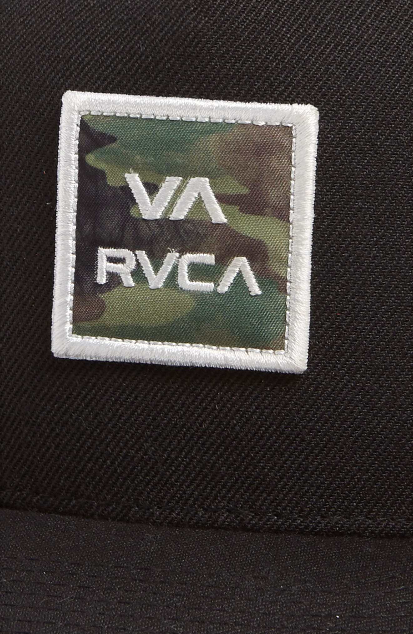 RVCA, VA All the Way Trucker Hat, Alternate thumbnail 3, color, 001