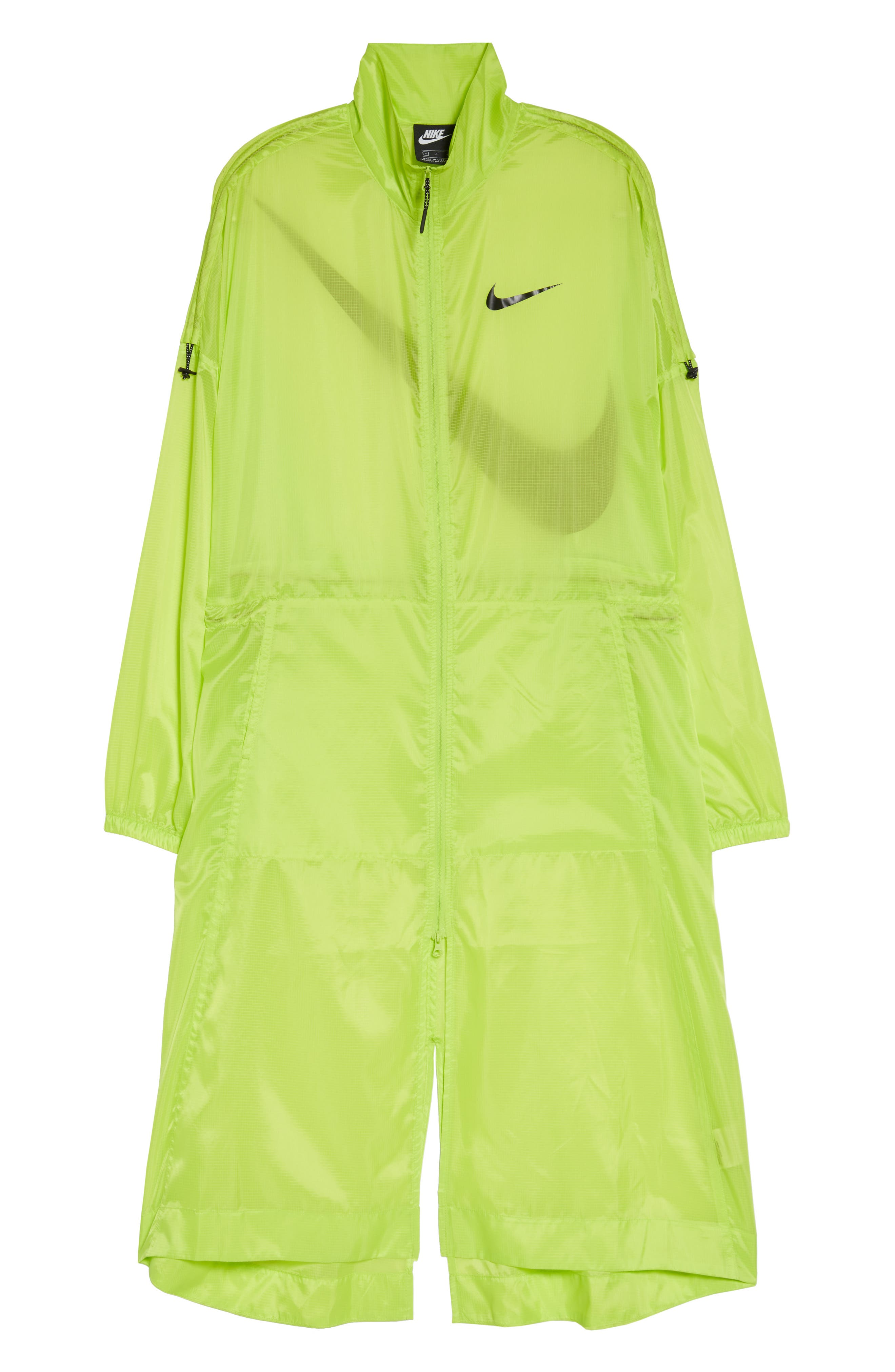 NIKE, Sportswear Women's Woven Jacket, Alternate thumbnail 6, color, CYBER/ BLACK