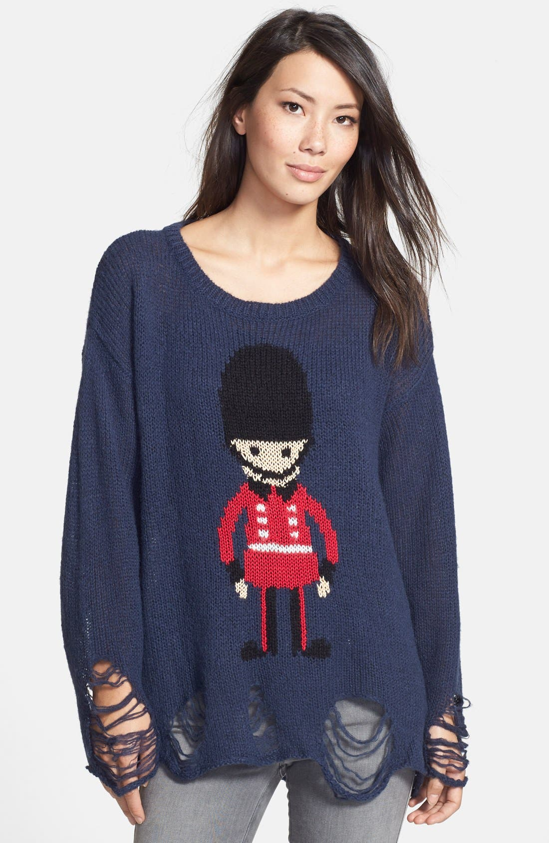 WILDFOX, Soldier Boy Sweater, Main thumbnail 1, color, 410