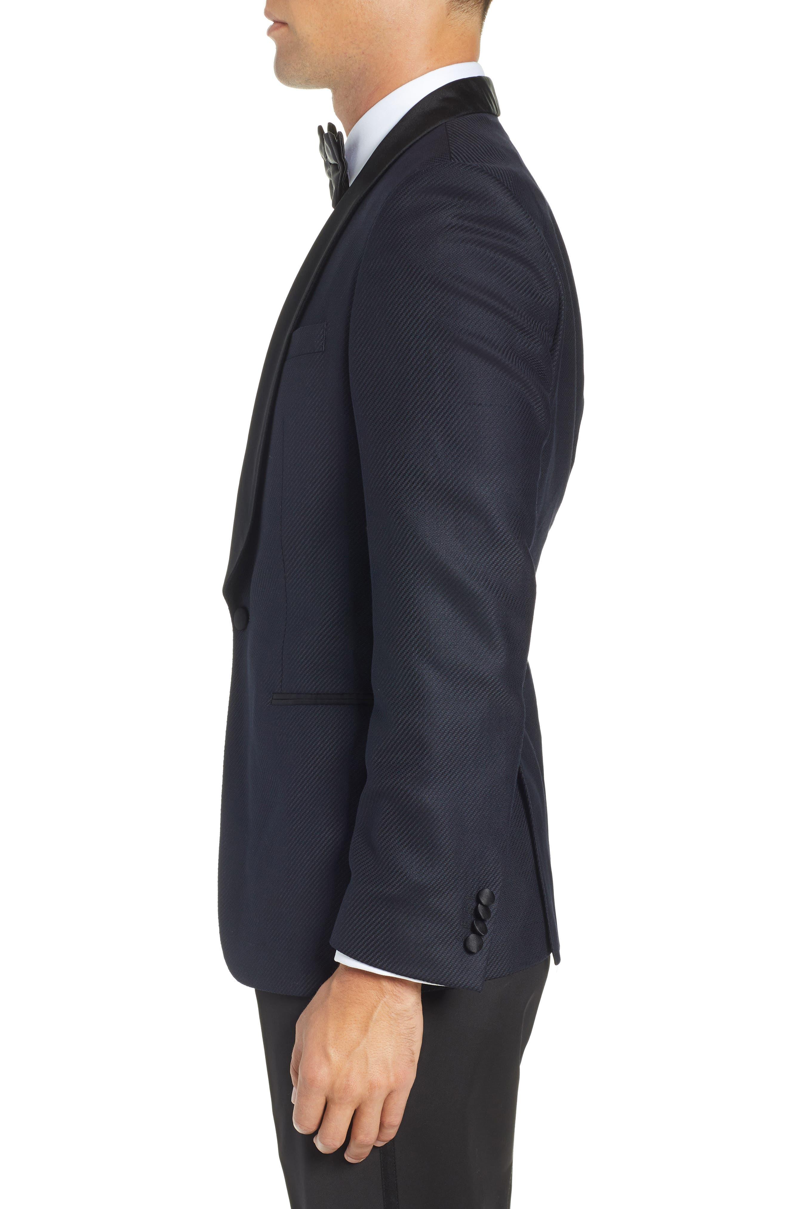 BOSS, Hockley Slim Fit Wool Dinner Jacket, Alternate thumbnail 3, color, 480