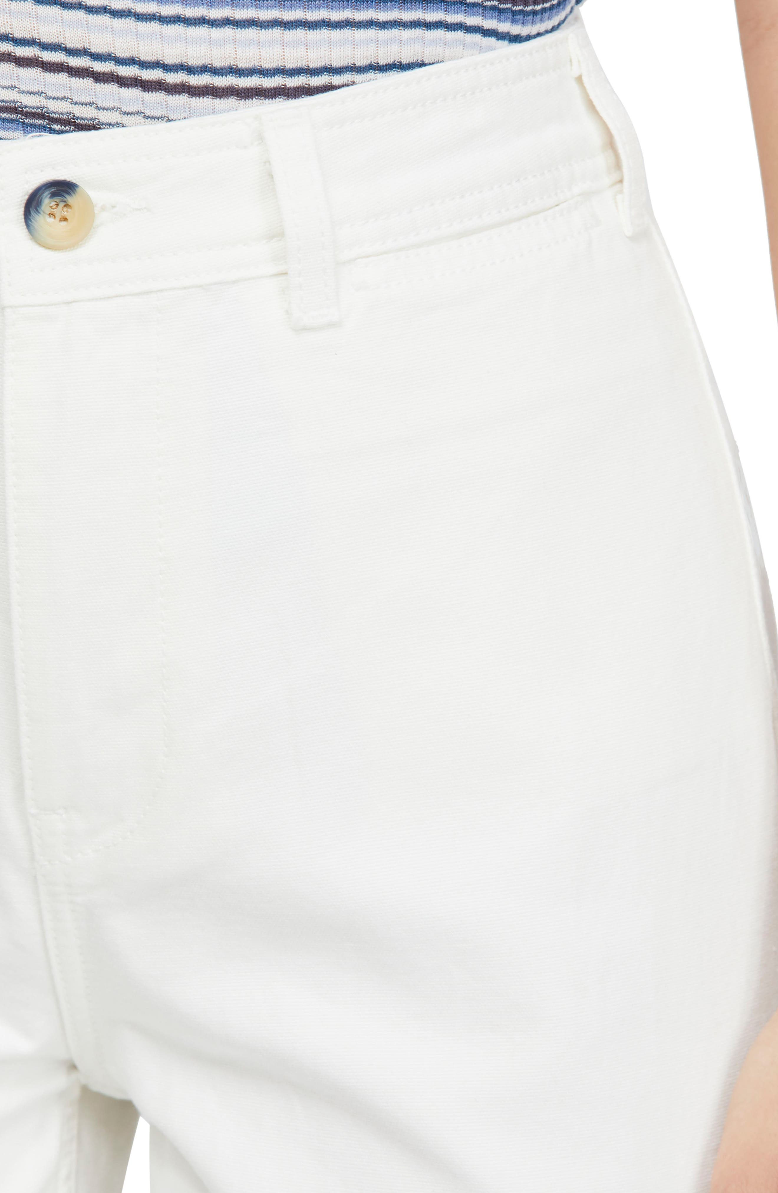 FREE PEOPLE, We the Free by Free People Patti Crop Cotton Pants, Alternate thumbnail 5, color, IVORY