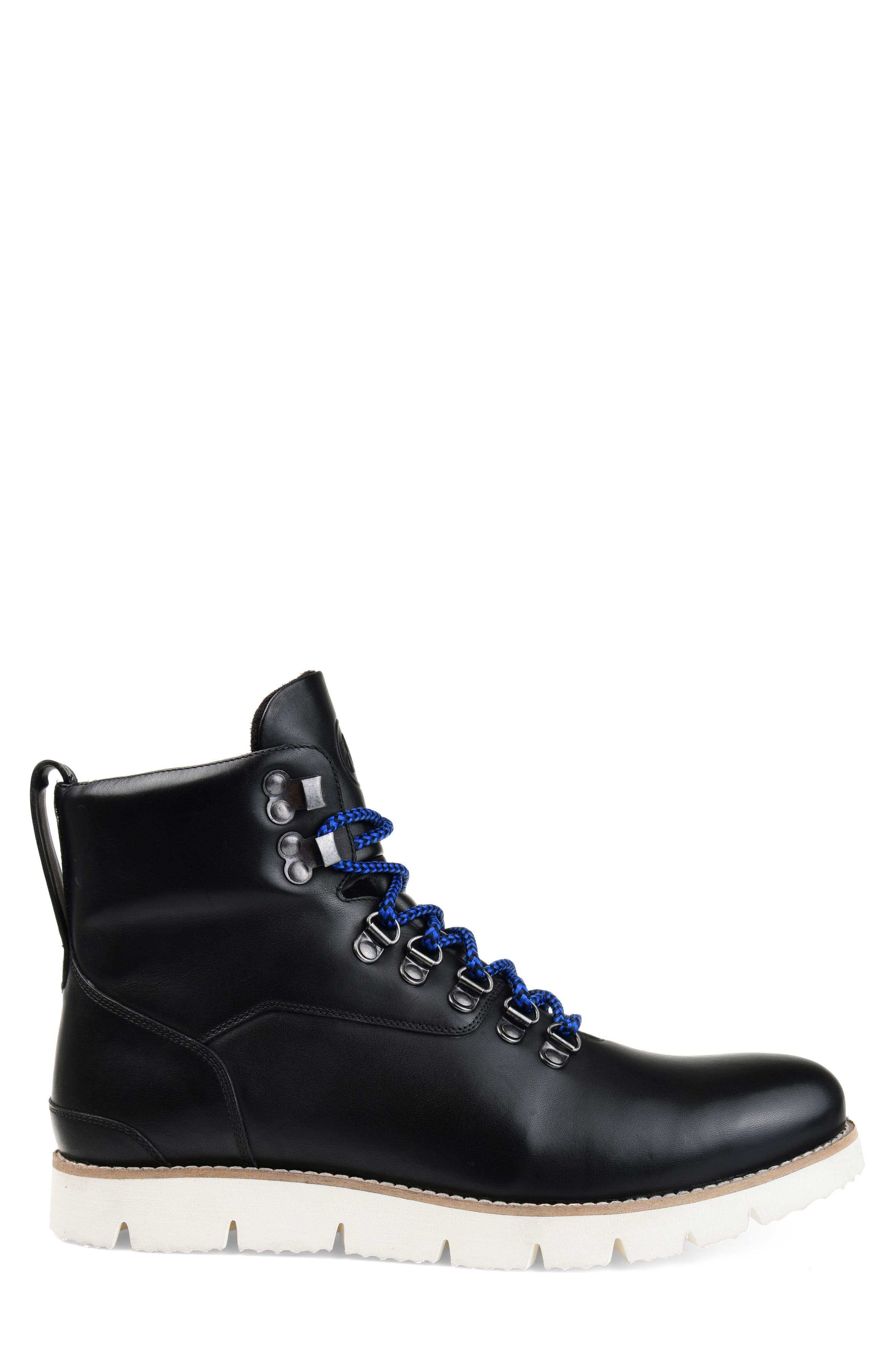 THOMAS AND VINE, Siege Boot, Alternate thumbnail 3, color, BLACK LEATHER