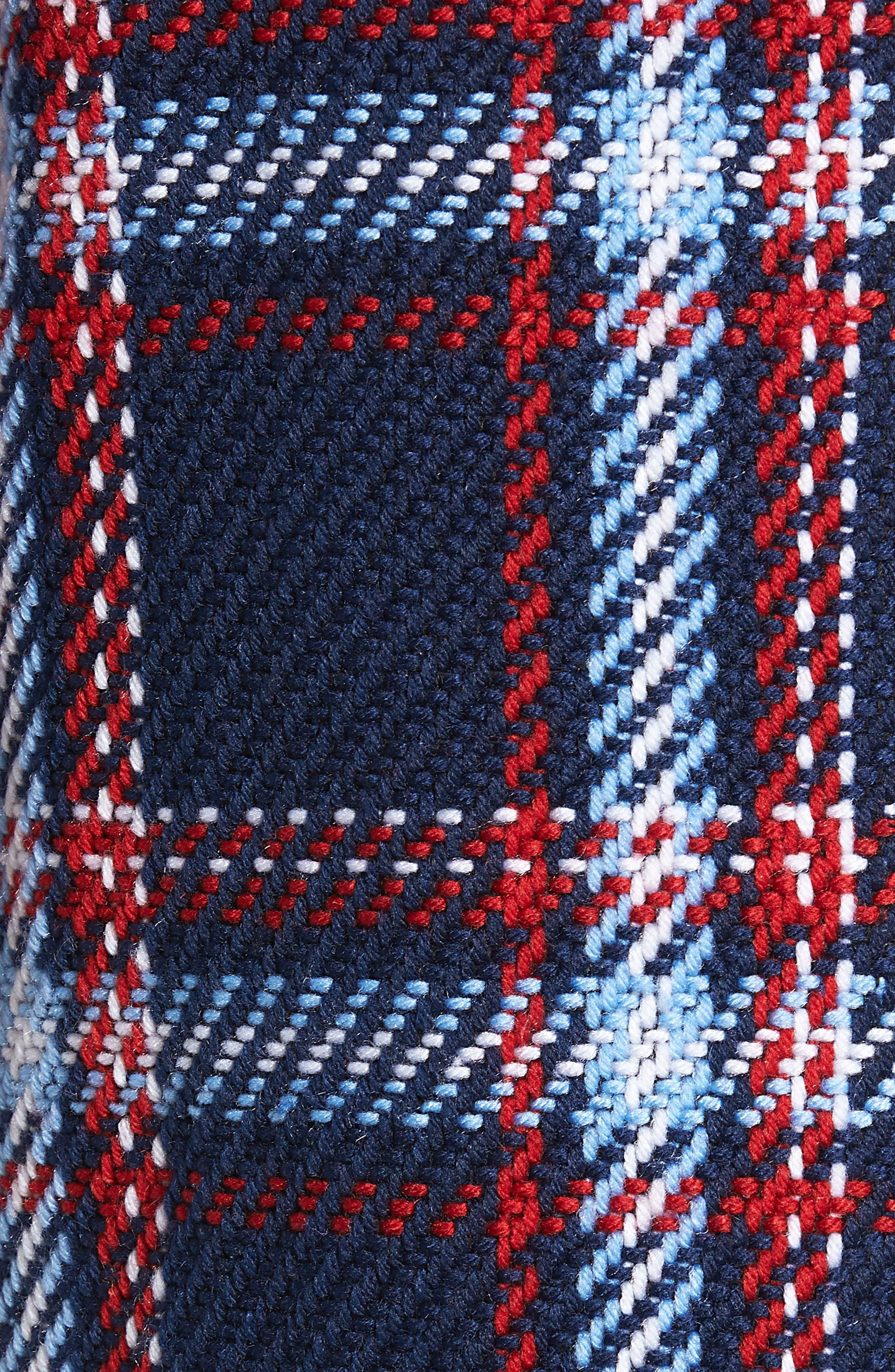 ENGLISH FACTORY, Single Breasted Plaid Coat, Alternate thumbnail 6, color, 001