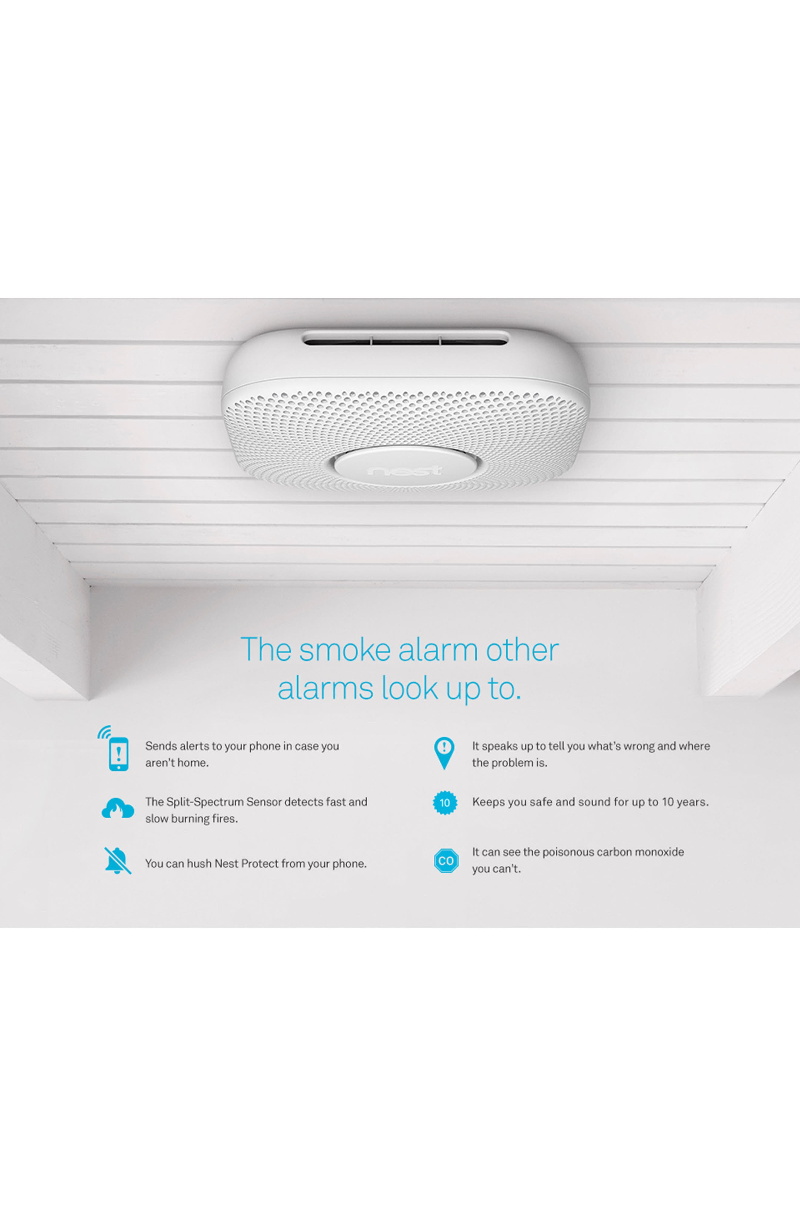 NEST, Protect Smoke & Carbon Monoxide Alarm, Alternate thumbnail 2, color, BATTERY OPERATED