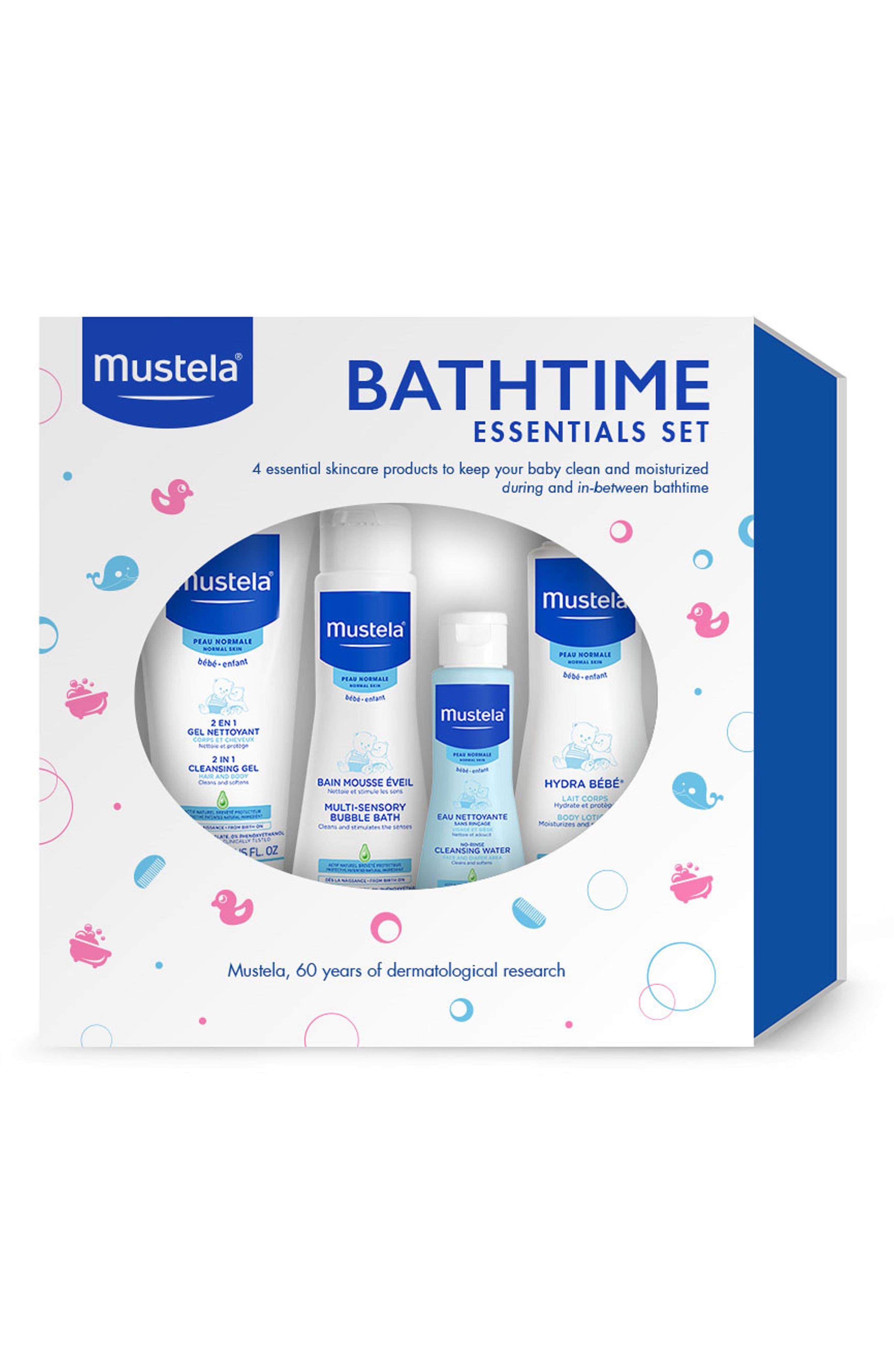 MUSTELA<SUP>®</SUP>, Bathtime Essentials Gift Set, Alternate thumbnail 2, color, WHITE