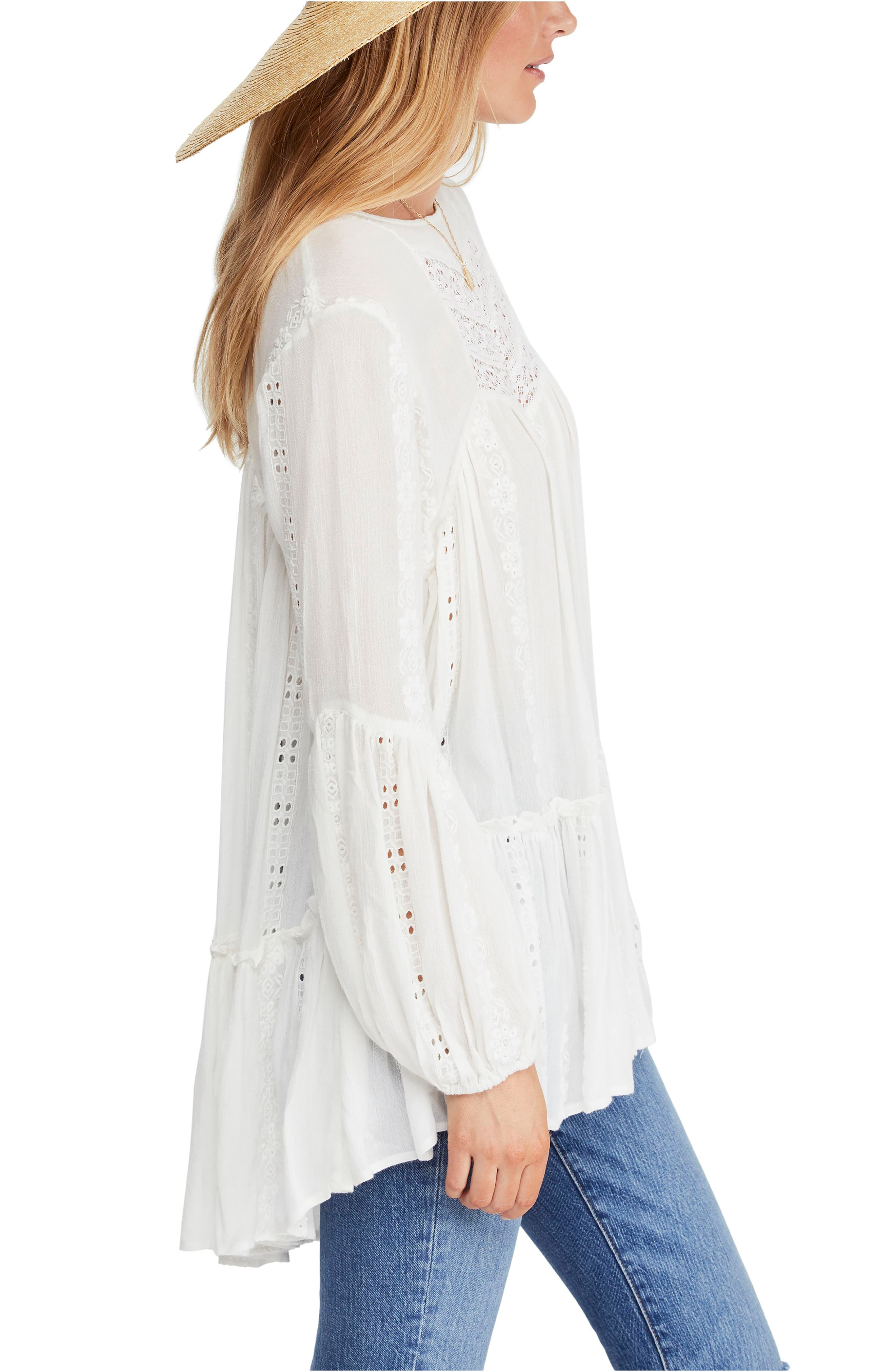 FREE PEOPLE, Kiss Kiss Tunic, Alternate thumbnail 3, color, 103