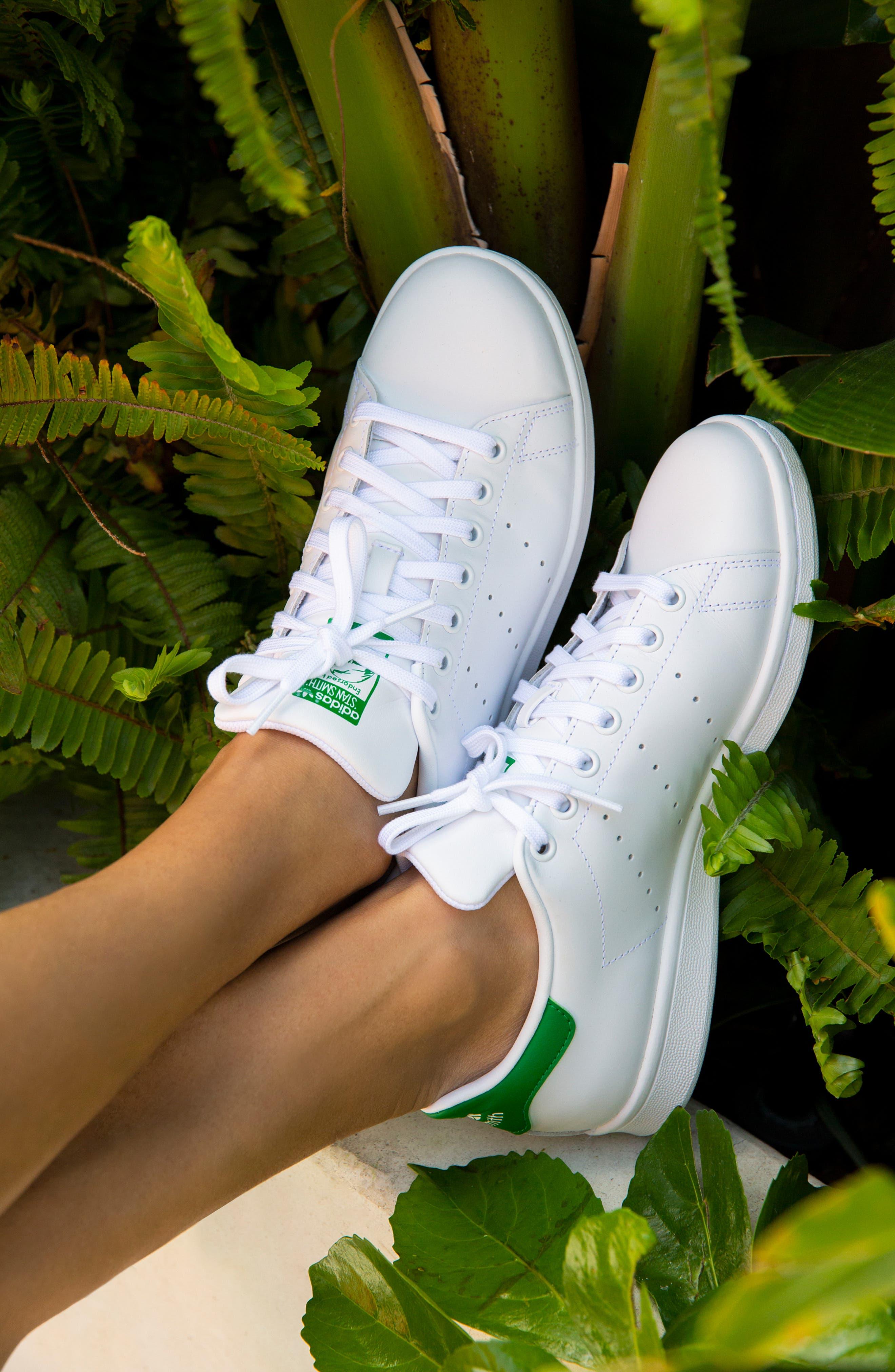 ADIDAS, Stan Smith Sneaker, Alternate thumbnail 10, color, WHITE/ FAIRWAY