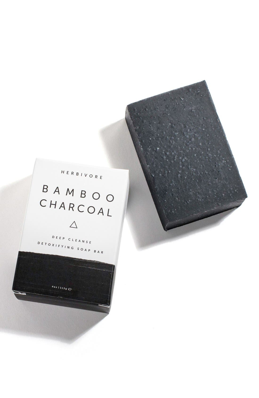 HERBIVORE BOTANICALS, Bamboo Charcoal Cleansing Bar Soap, Alternate thumbnail 3, color, NONE