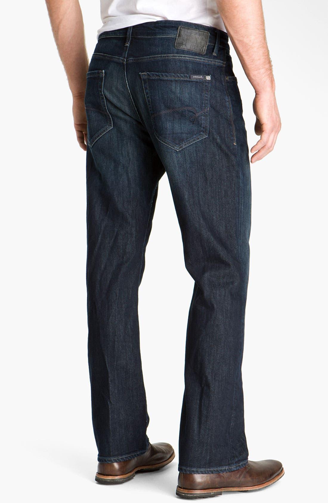 MAVI JEANS, 'Matt' Relaxed Fit Jeans, Alternate thumbnail 6, color, DEEP STANFORD COMFORT
