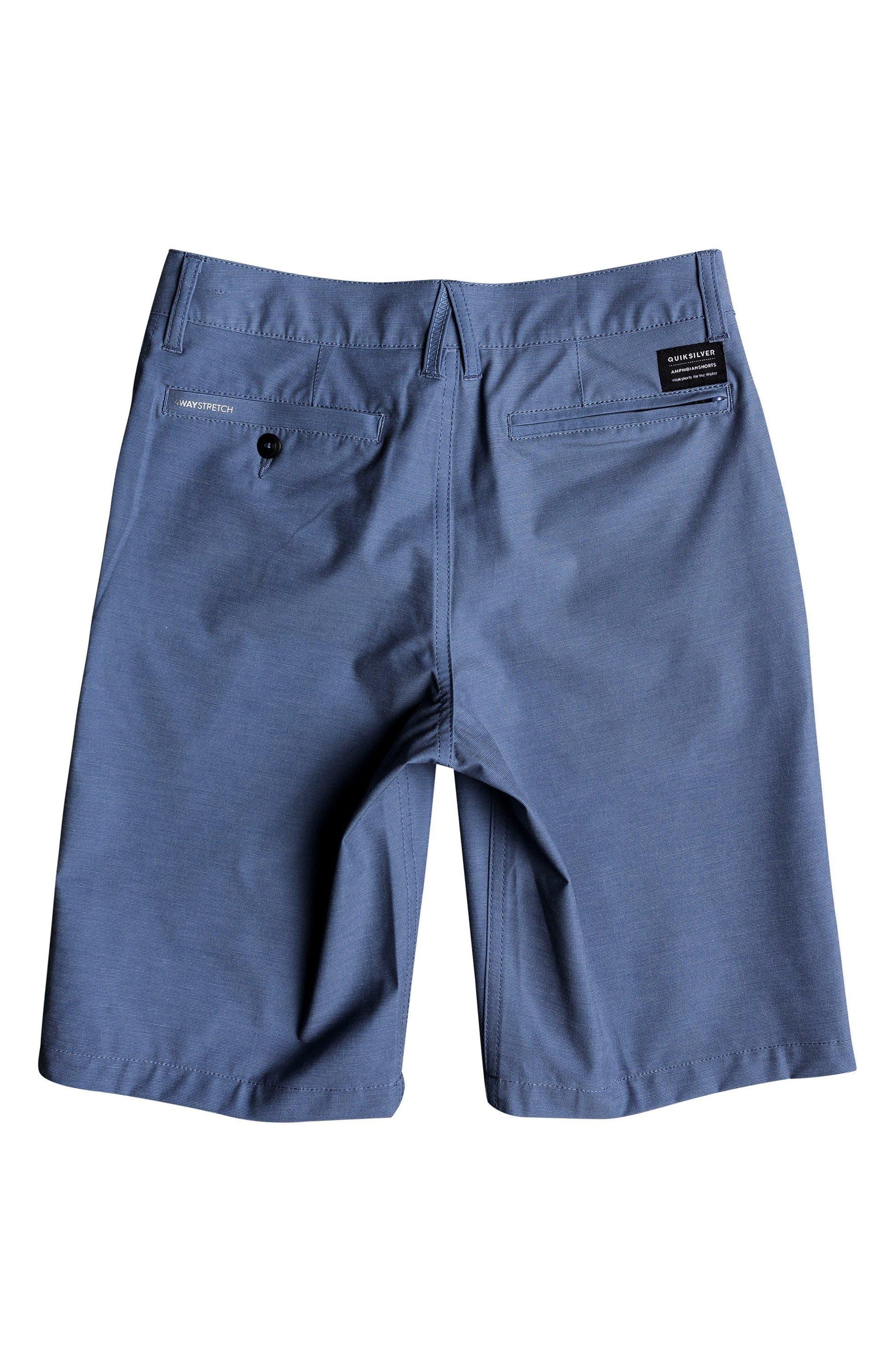 QUIKSILVER, Union Heather Amphibian Hybrid Shorts, Alternate thumbnail 2, color, BIJOU BLUE