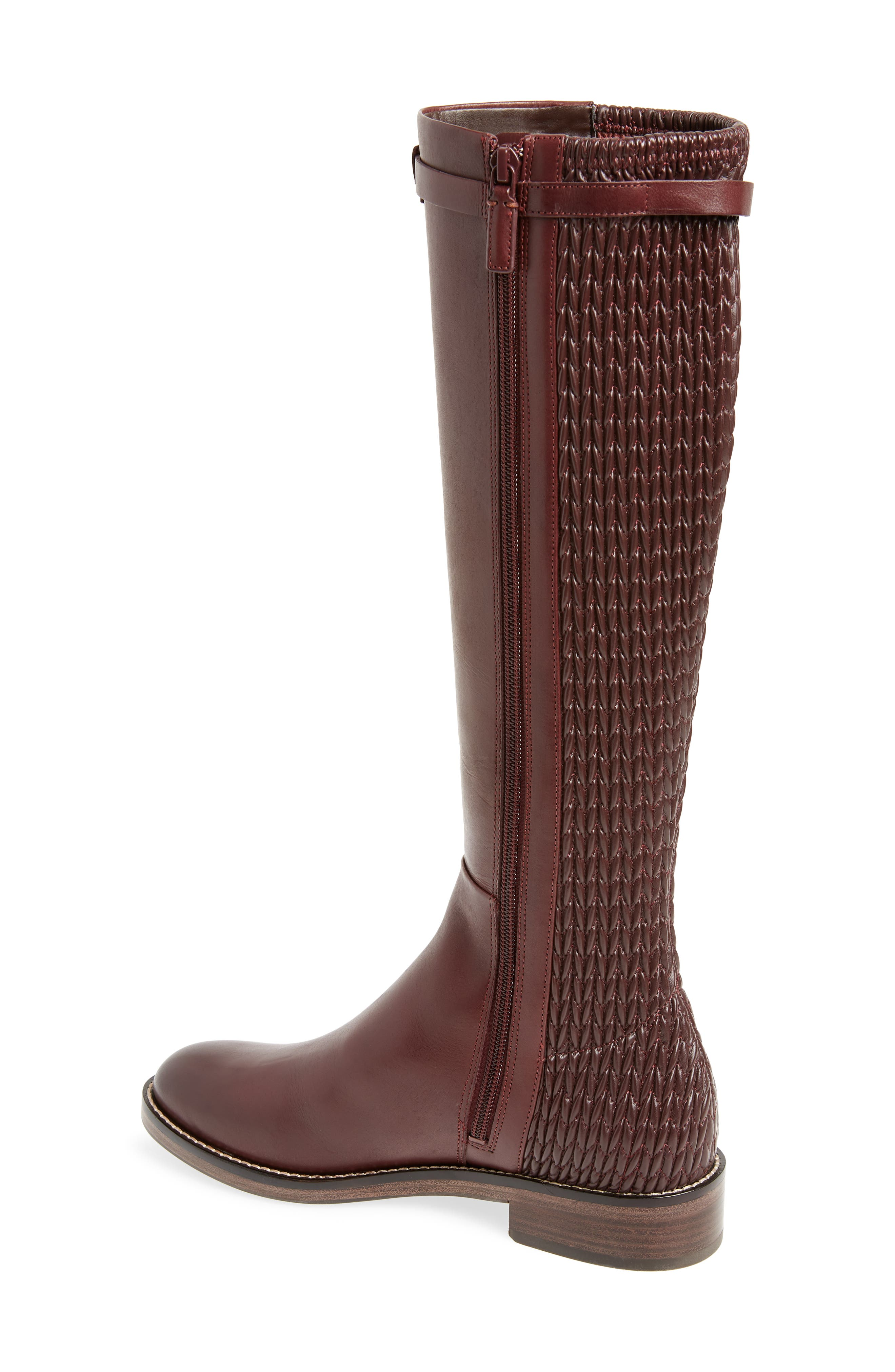 COLE HAAN, Lexi Grand Knee High Stretch Boot, Alternate thumbnail 2, color, CORDOVAN LEATHER