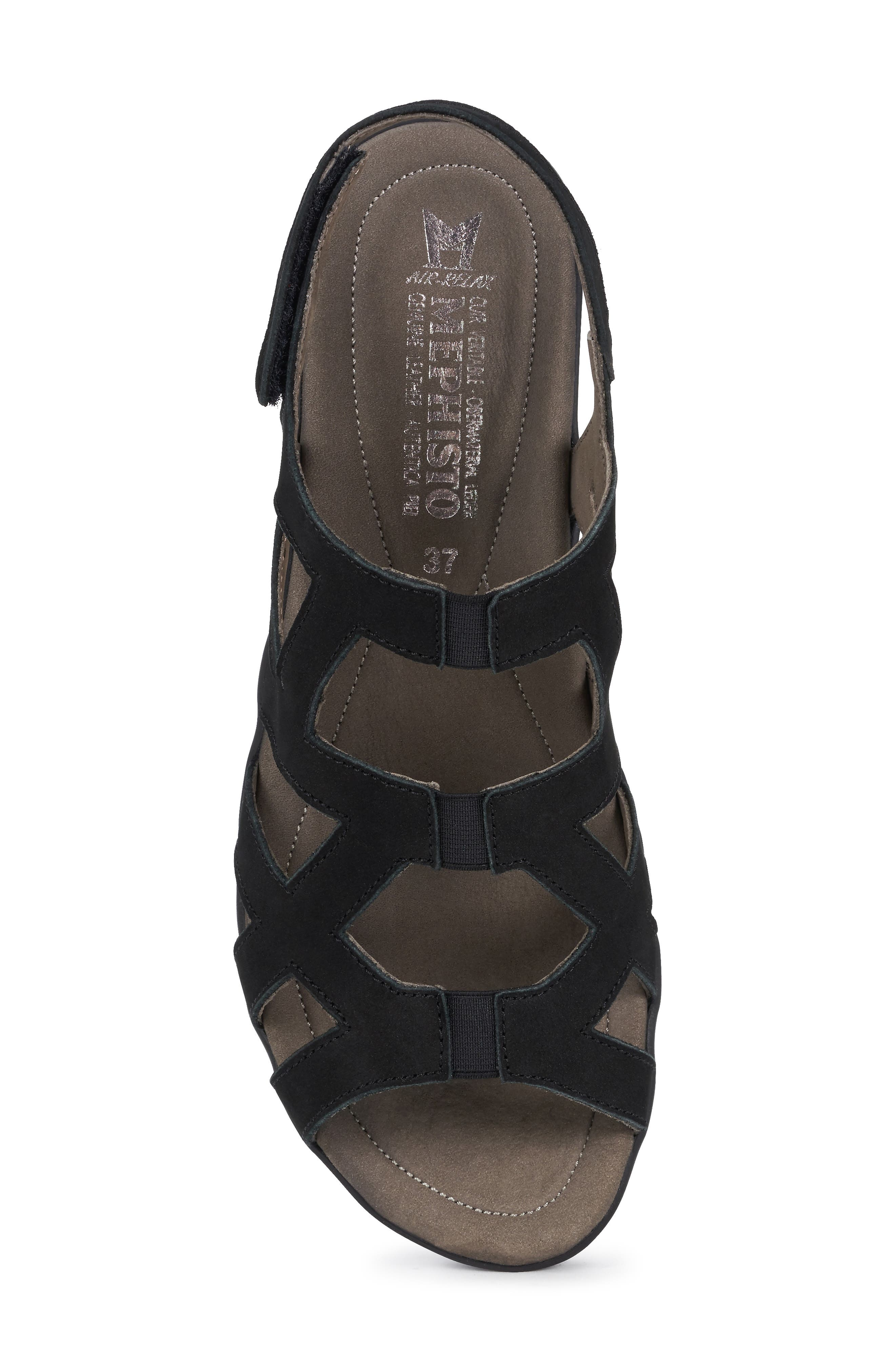 MEPHISTO, Pamela Sandal, Alternate thumbnail 5, color, BLACK NUBUCK