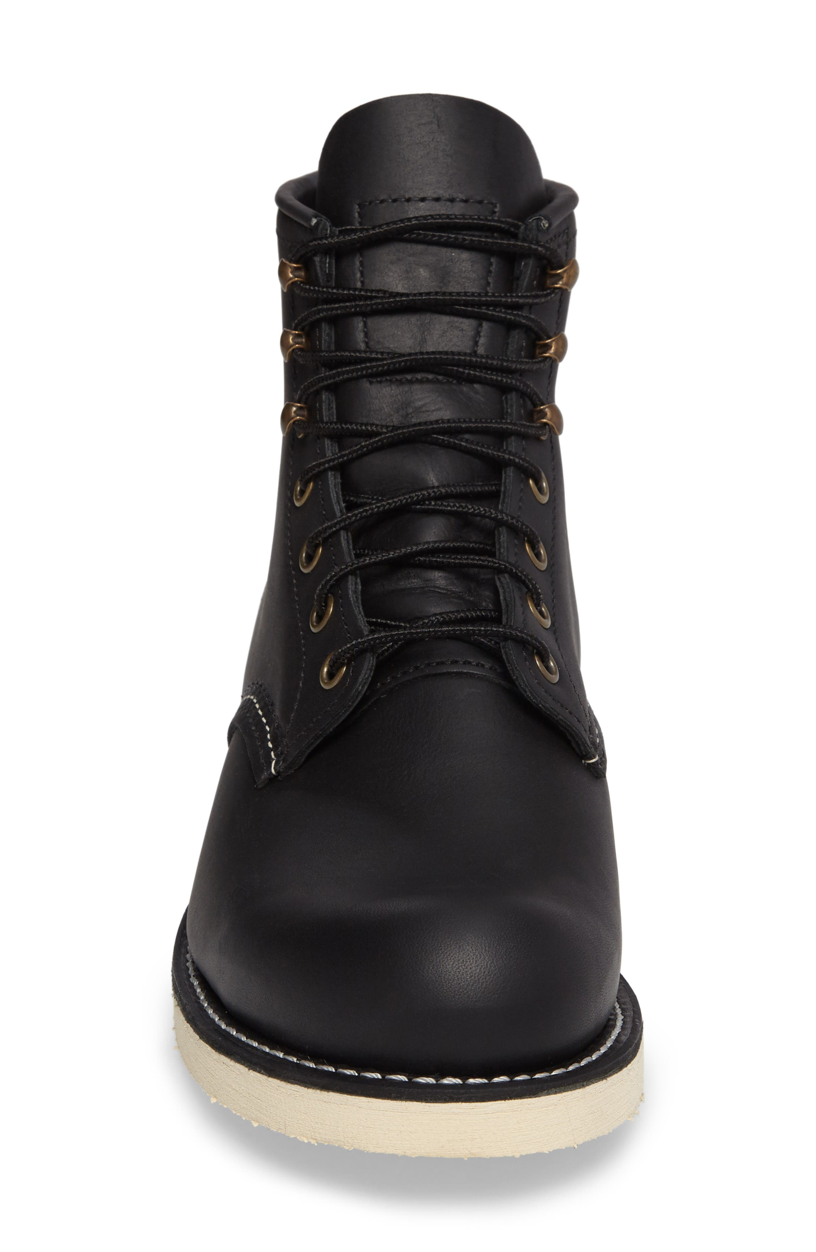 RED WING, Rover Plain Toe Boot, Alternate thumbnail 4, color, BLACK HARNESS LEATHER
