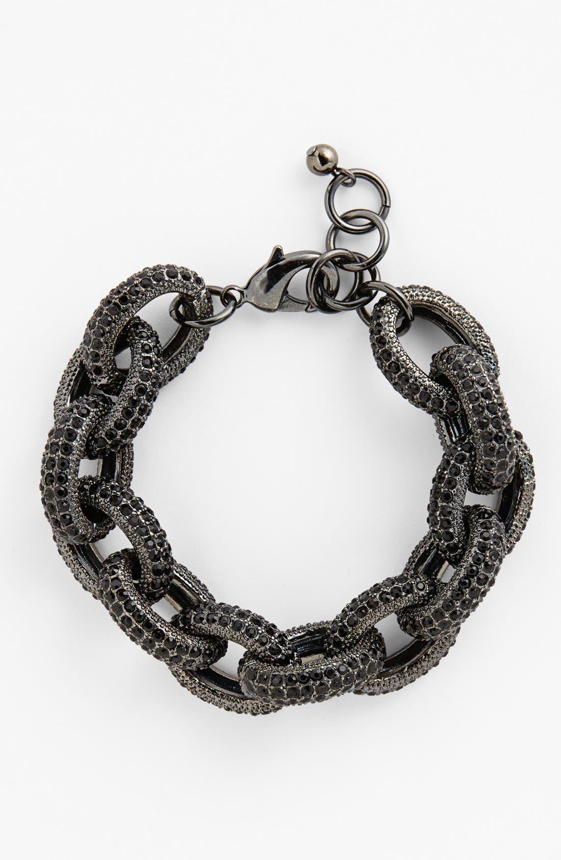 NORDSTROM, Pavé Link Bracelet, Main thumbnail 1, color, 001