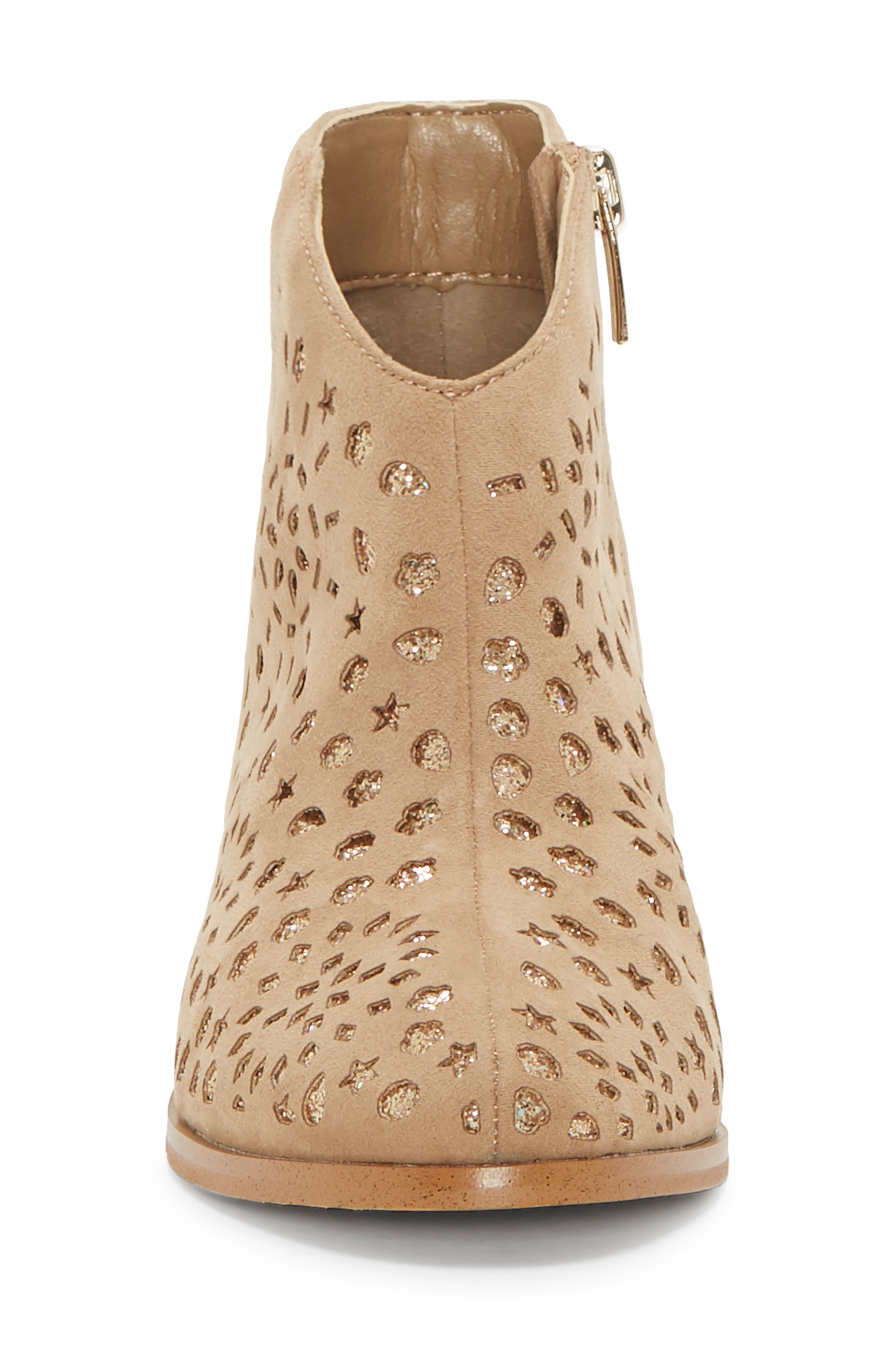 VINCE CAMUTO, Perforated Glitter Boot, Alternate thumbnail 4, color, 718