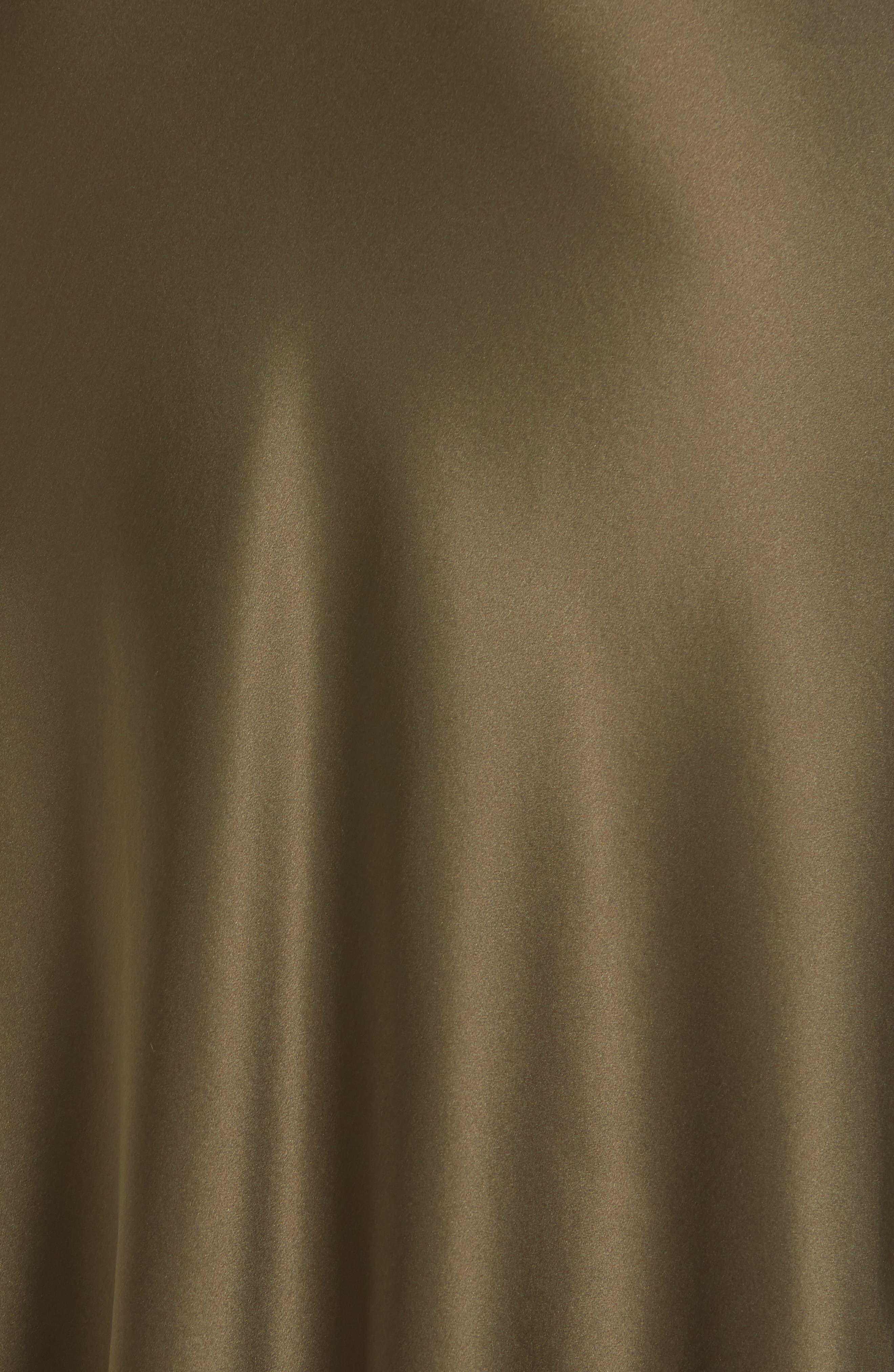 NILI LOTAN, Lane Silk Skirt, Alternate thumbnail 5, color, ARMY GREEN