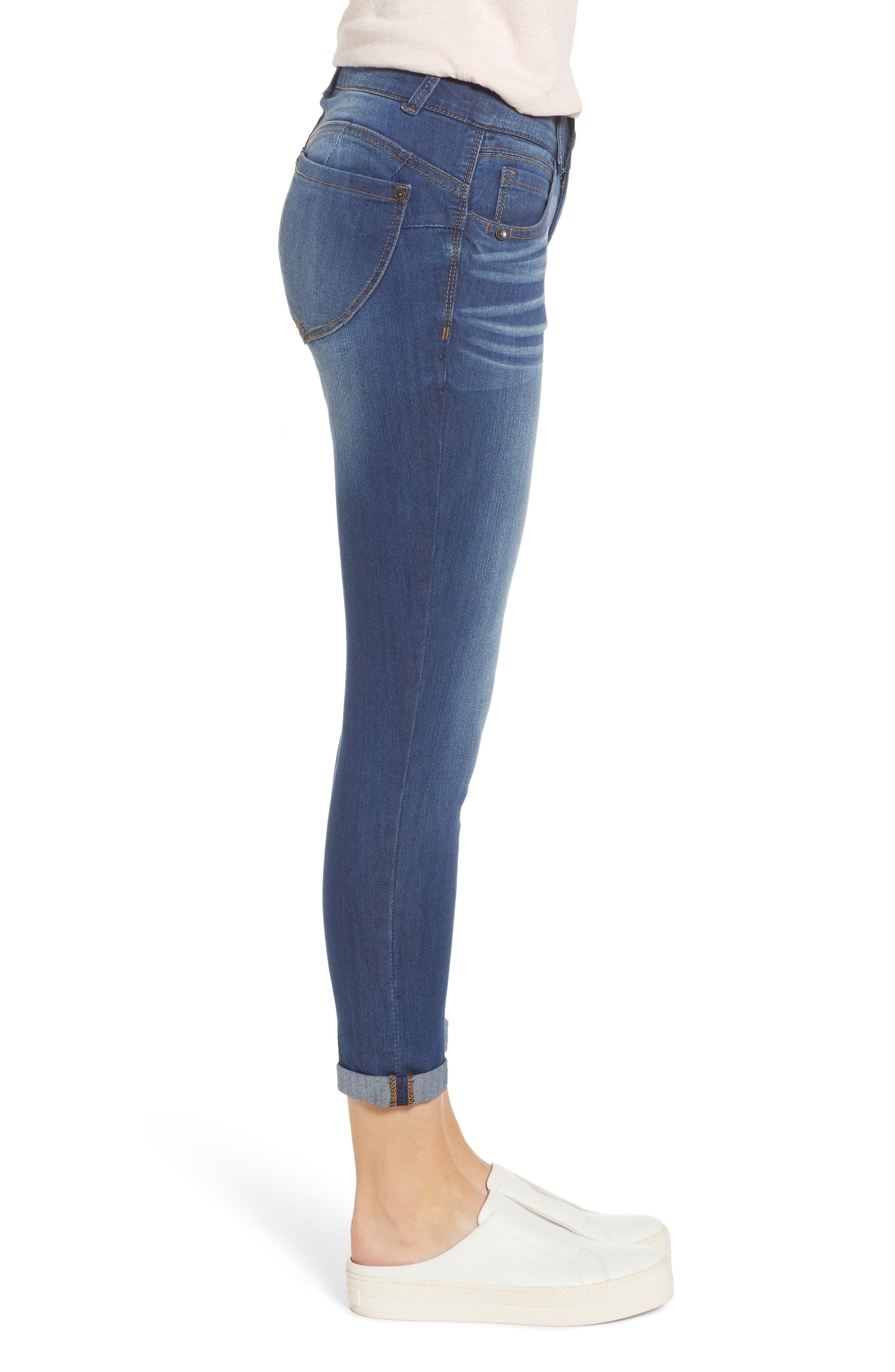 WIT & WISDOM, Ab-Solution Ankle Skimmer Jeans, Alternate thumbnail 4, color, BLUE