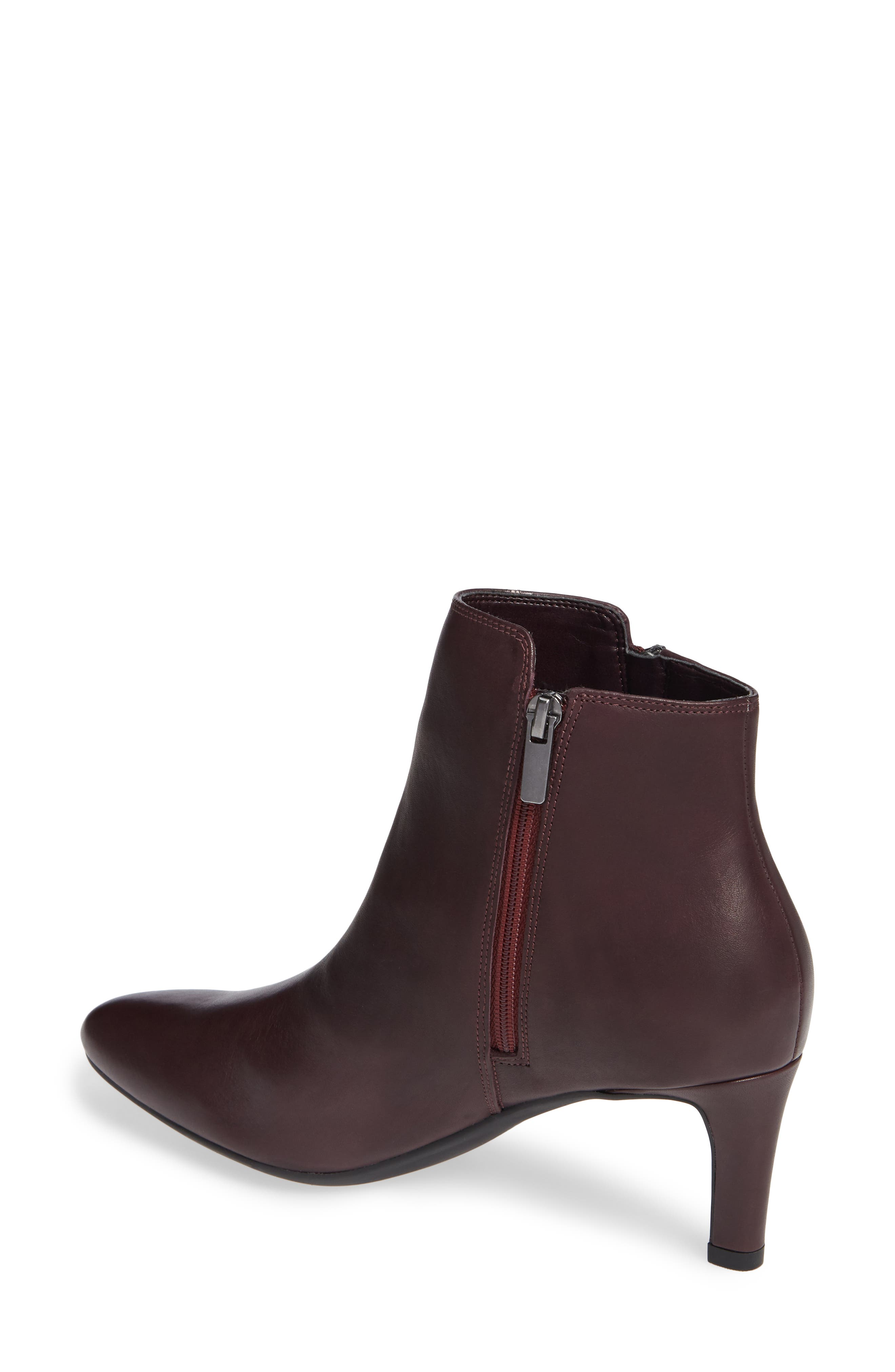 CLARKS<SUP>®</SUP>, Calla Blossom Bootie, Alternate thumbnail 2, color, RED LEATHER