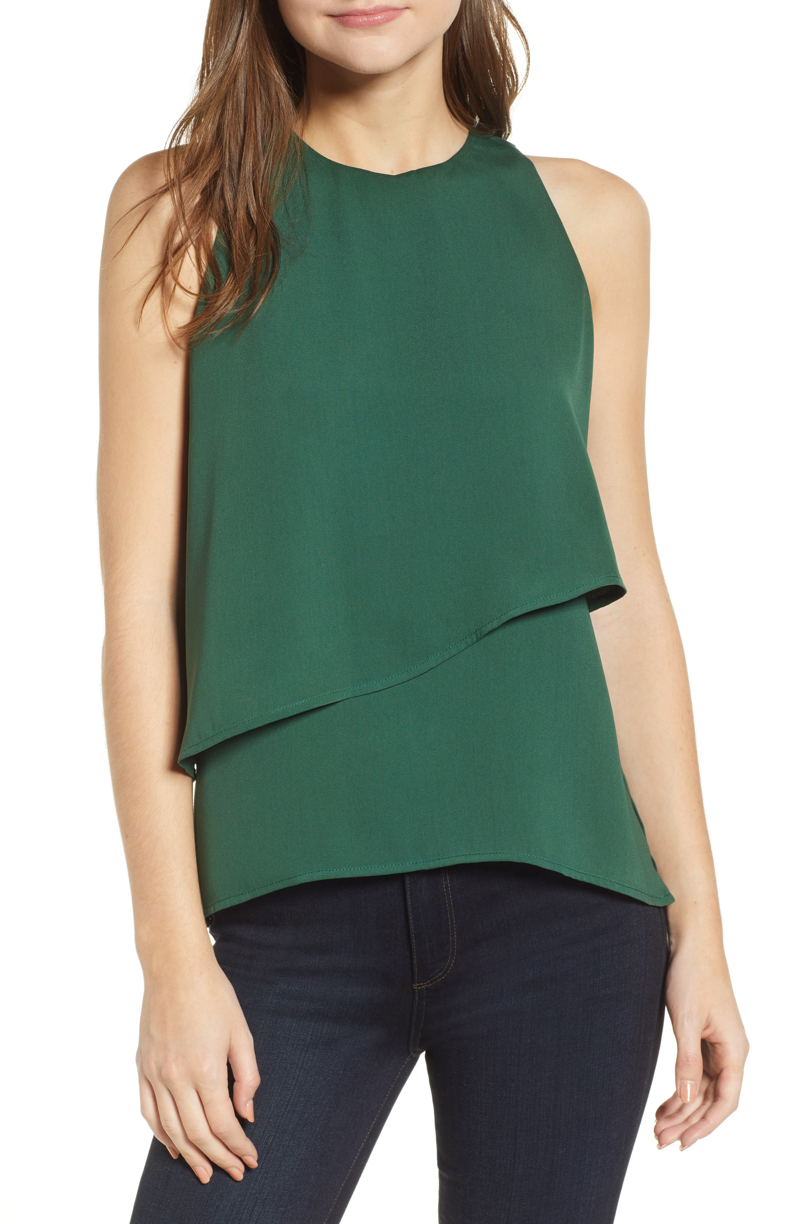 CHELSEA28 Tiered Sleeveless Top, Main, color, 301