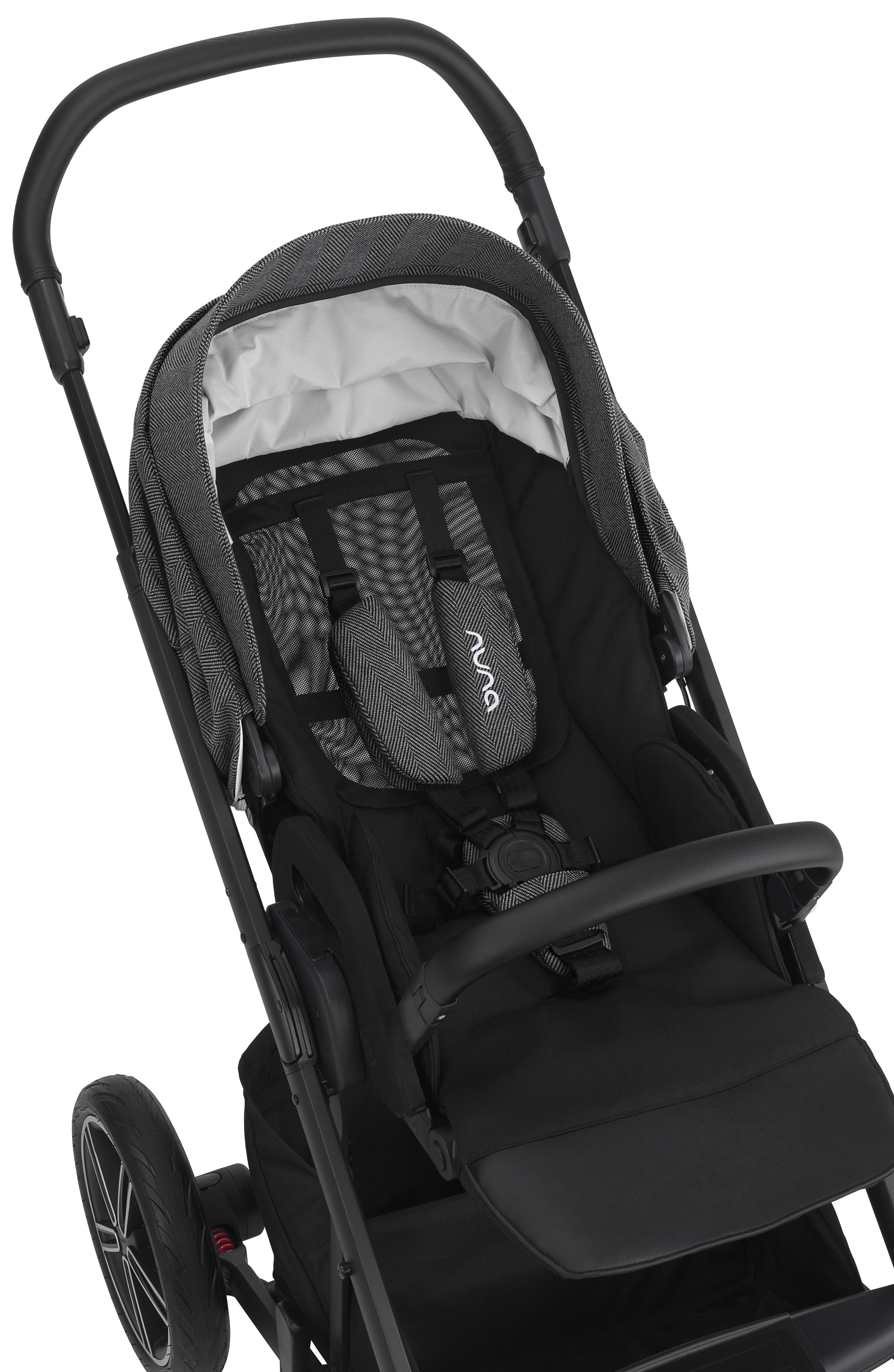 NUNA, 2019 MIXX<sup>™</sup> Stroller & PIPA<sup>™</sup> Lite LX Infant Car Seat Set Travel System, Alternate thumbnail 4, color, VERONA CAVIAR