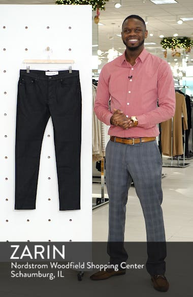 Coated Denim Skinny Jeans, sales video thumbnail