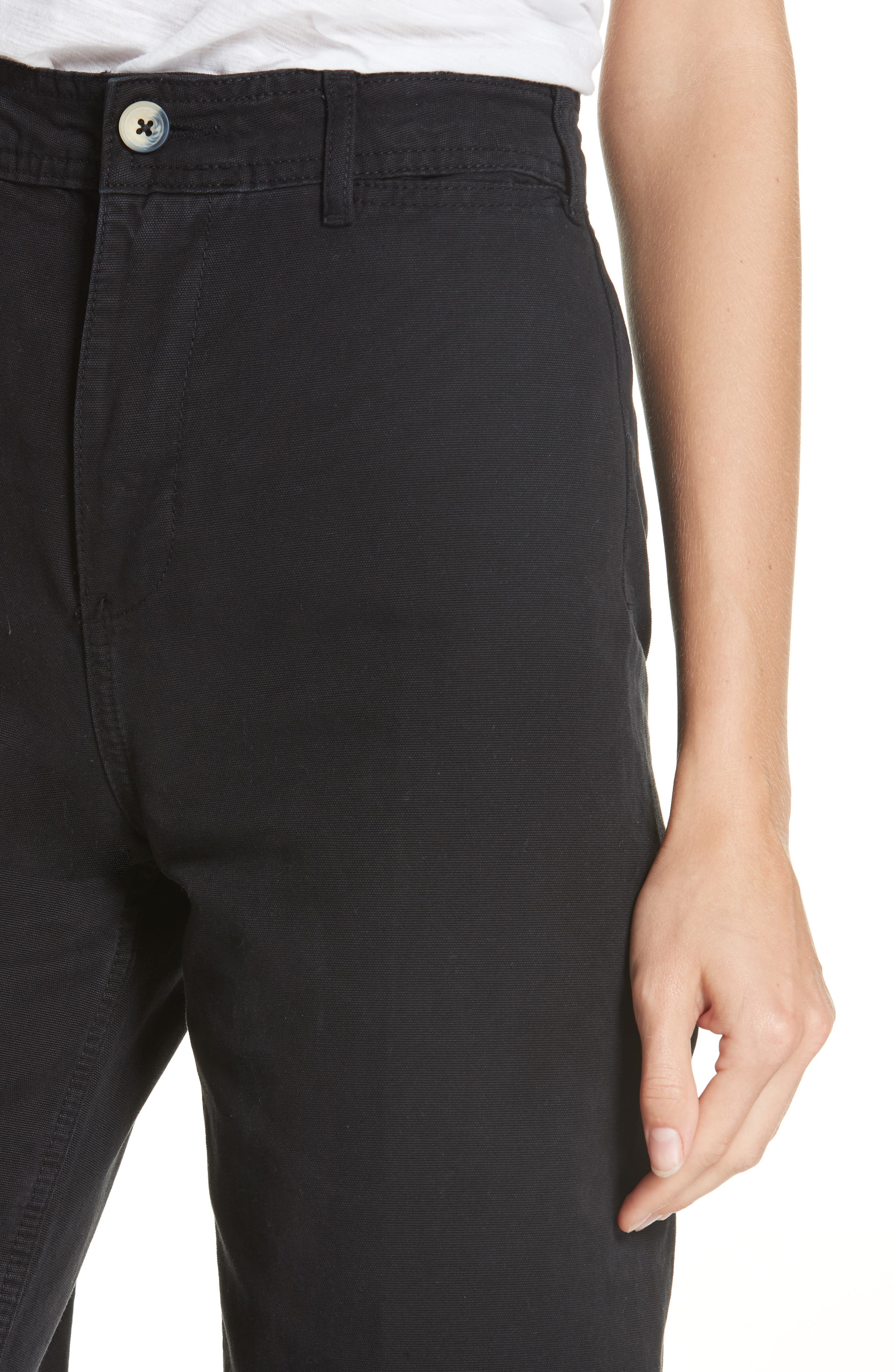 FREE PEOPLE, We the Free by Free People Patti Crop Cotton Pants, Alternate thumbnail 5, color, 001