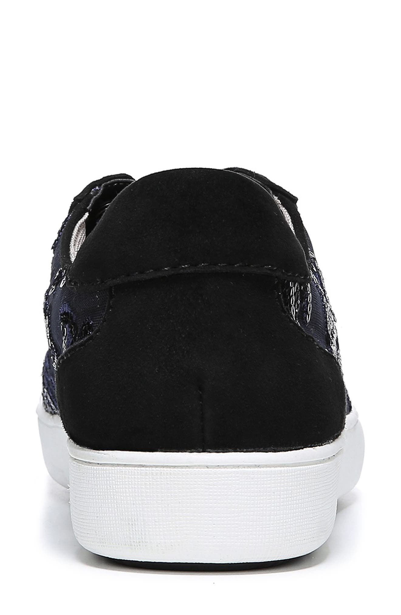 NATURALIZER, Morrison Sneaker, Alternate thumbnail 7, color, NAVY EMBROIDERED LACE