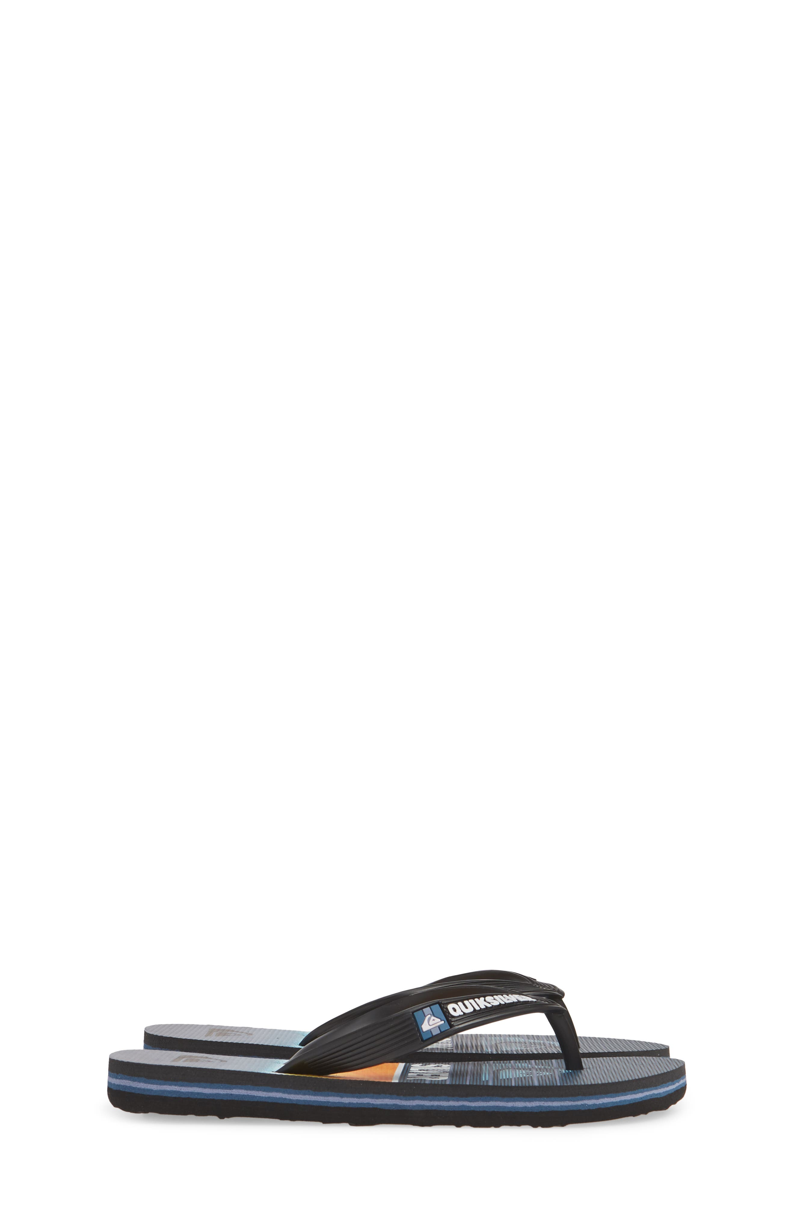 QUIKSILVER, Highline Slab Flip Flop, Alternate thumbnail 4, color, BLACK/ BLUE/ BLUE