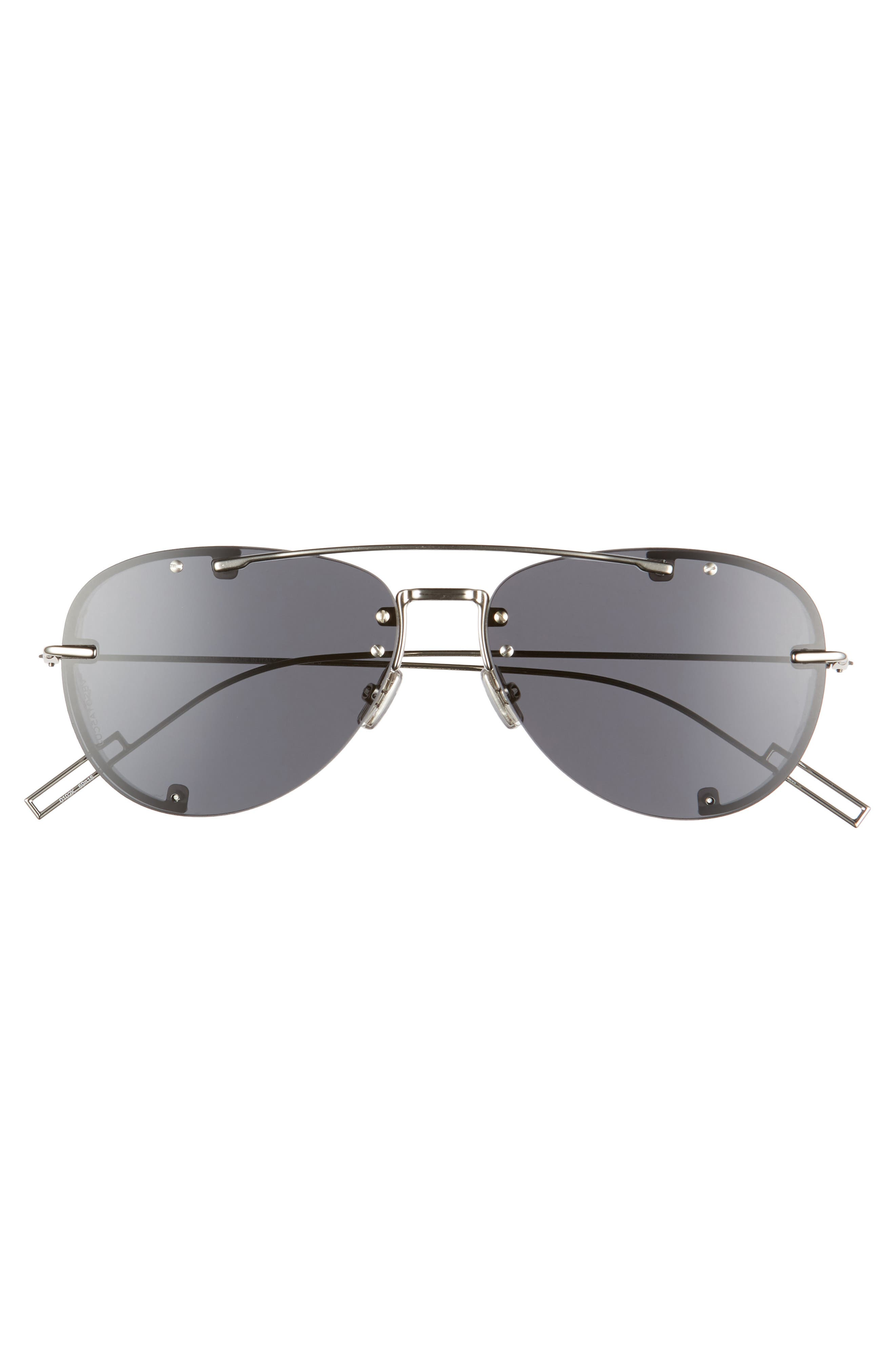 DIOR, Homme 59mm Aviator Sunglasses, Alternate thumbnail 2, color, PALLADIUM / GRAY AR