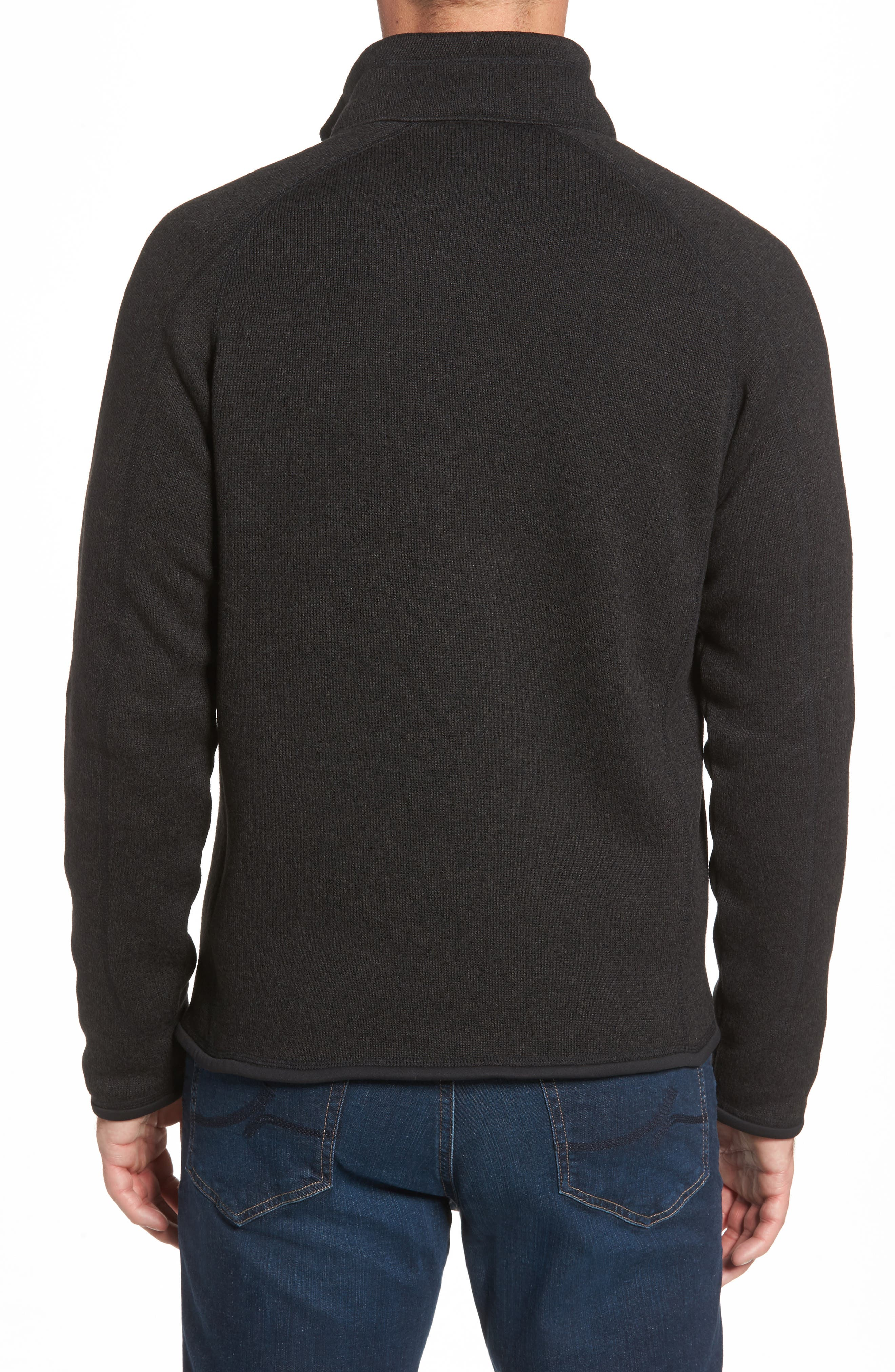PATAGONIA, Better Sweater Zip Front Jacket, Alternate thumbnail 2, color, BLACK