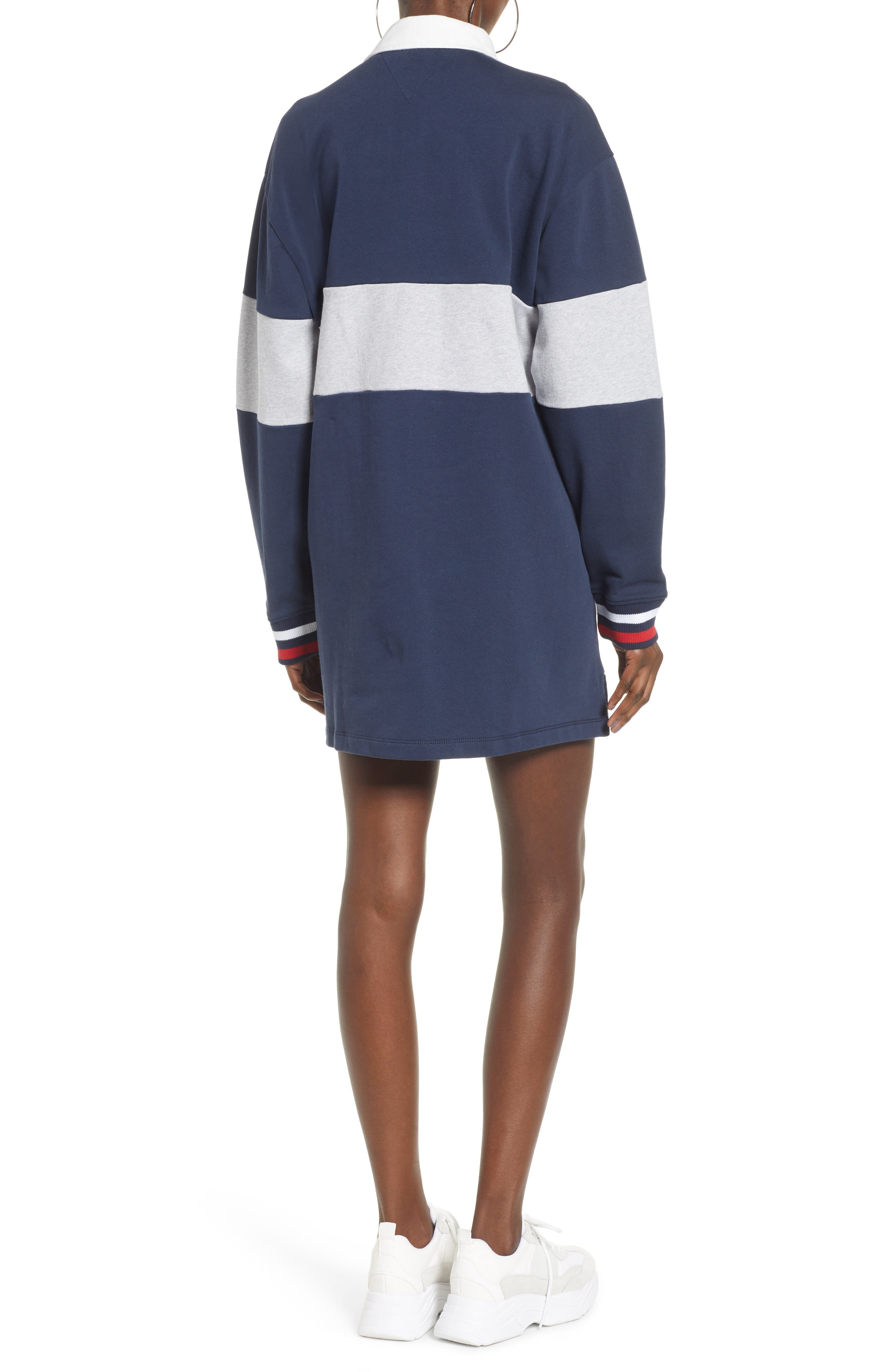 TOMMY JEANS, Logo Rugby Dress, Alternate thumbnail 2, color, 400