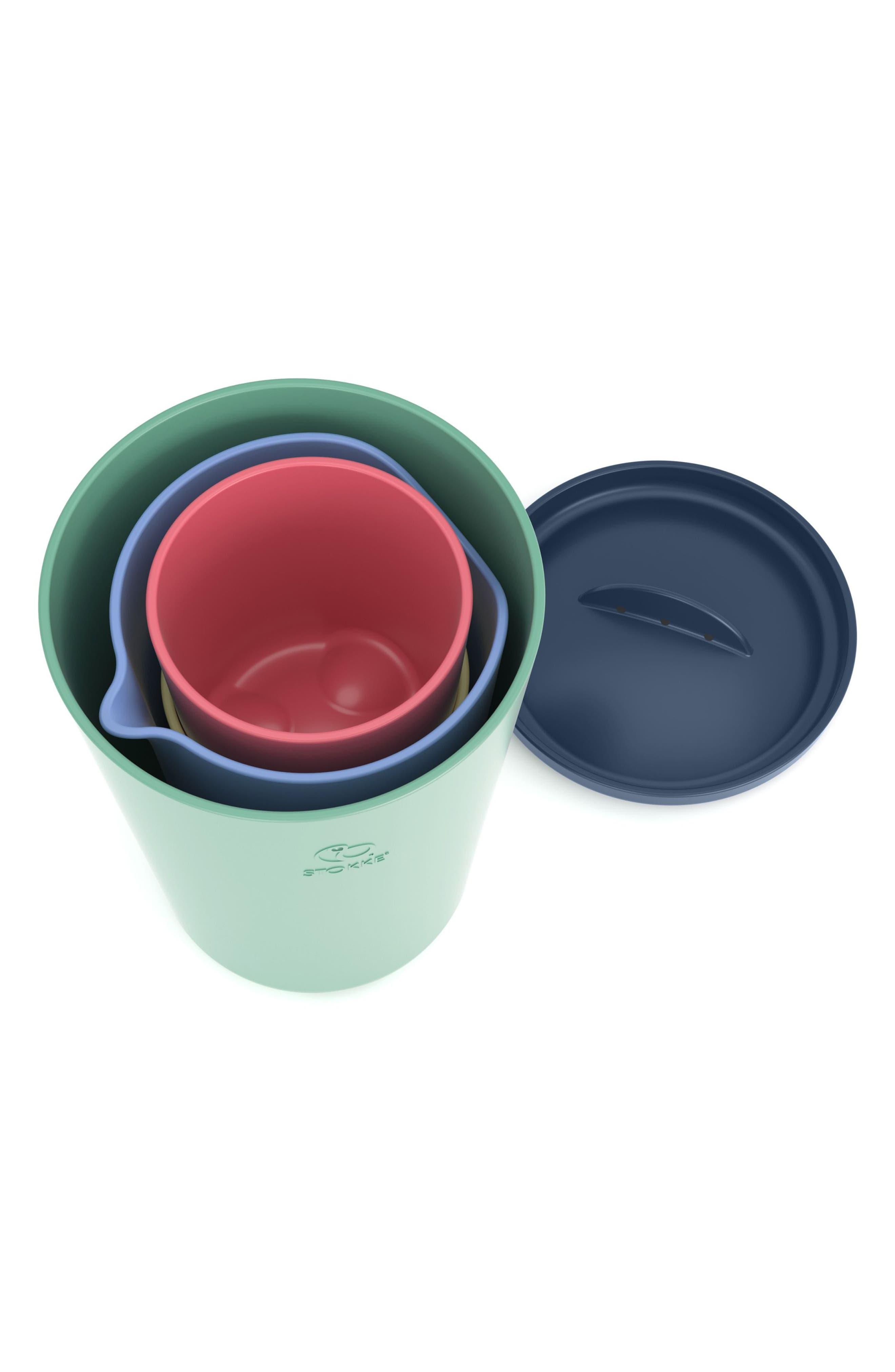 STOKKE, Flexi Bath<sup>®</sup> 5-Piece Toy Cups Set, Alternate thumbnail 2, color, 300