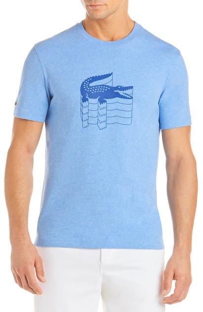 Lacoste T-shirts REGULAR FIT GRAPHIC CREWNECK T-SHIRT
