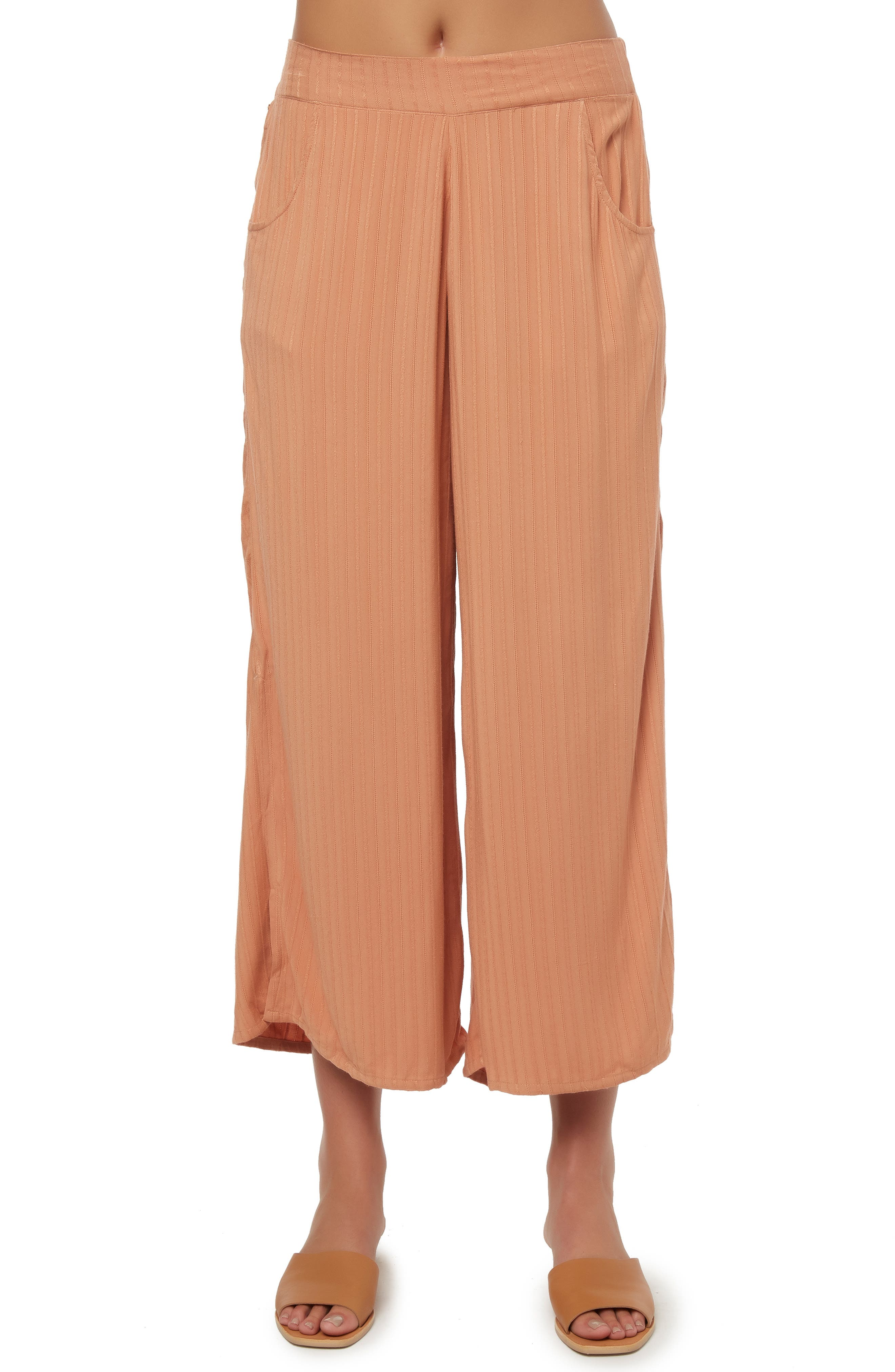 O'NEILL, Rayna Wide Leg Crop Pants, Main thumbnail 1, color, CORK