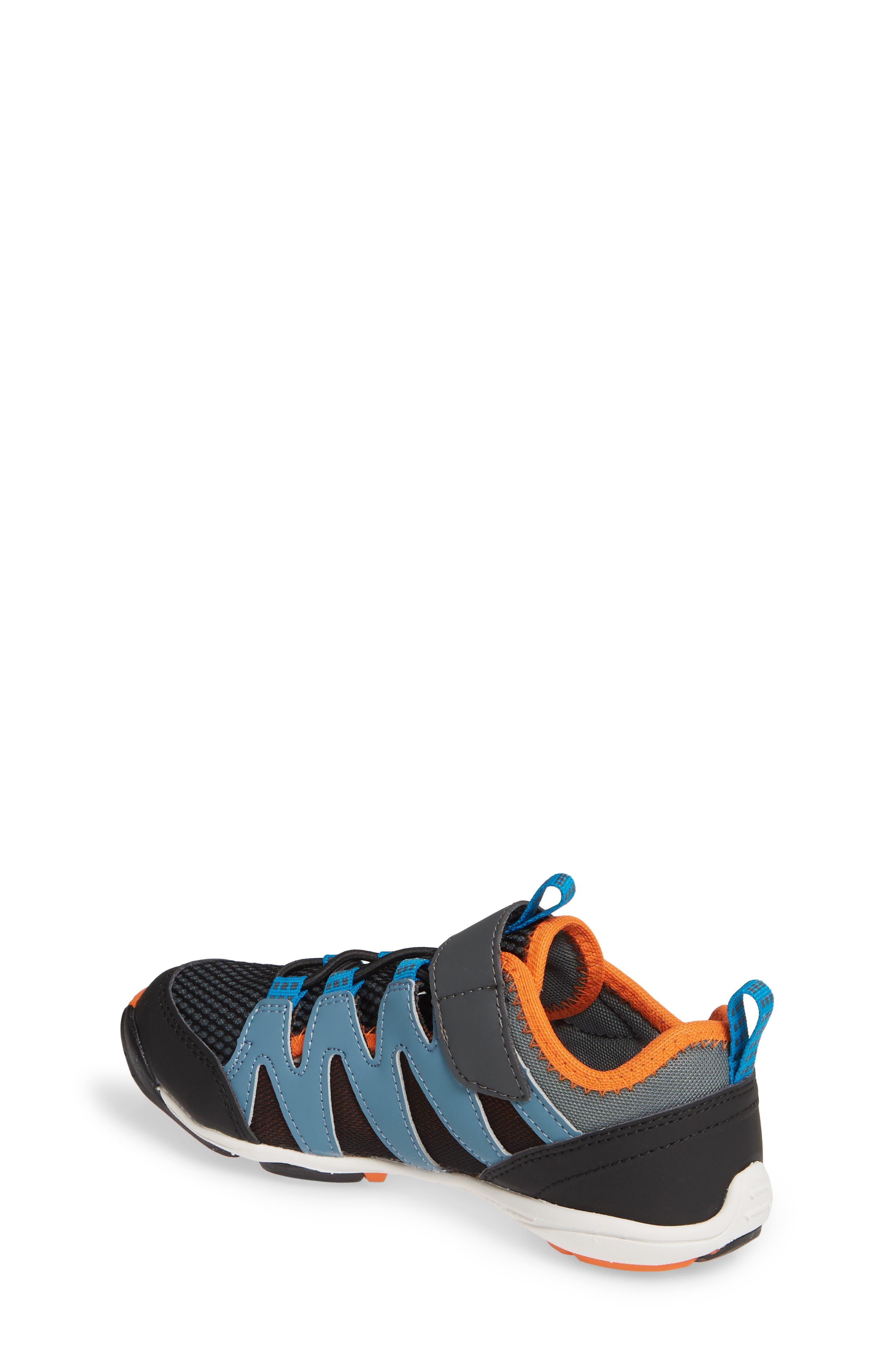 TSUKIHOSHI, Wave Washable Sneaker, Alternate thumbnail 2, color, BLACK/ ORANGE