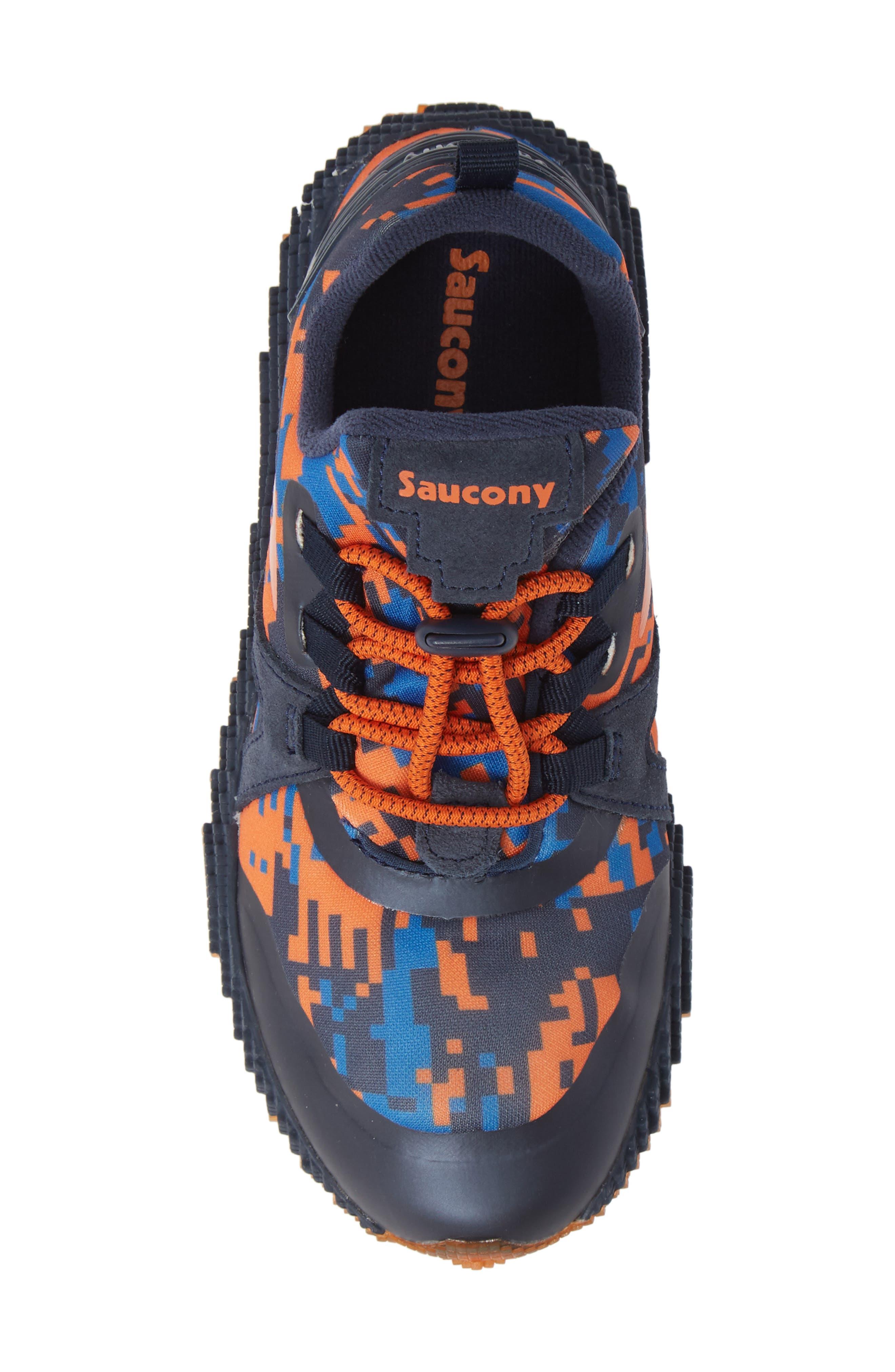 SAUCONY, Voxel 9000 Sneaker, Alternate thumbnail 5, color, BLUE LEATHER/ MESH