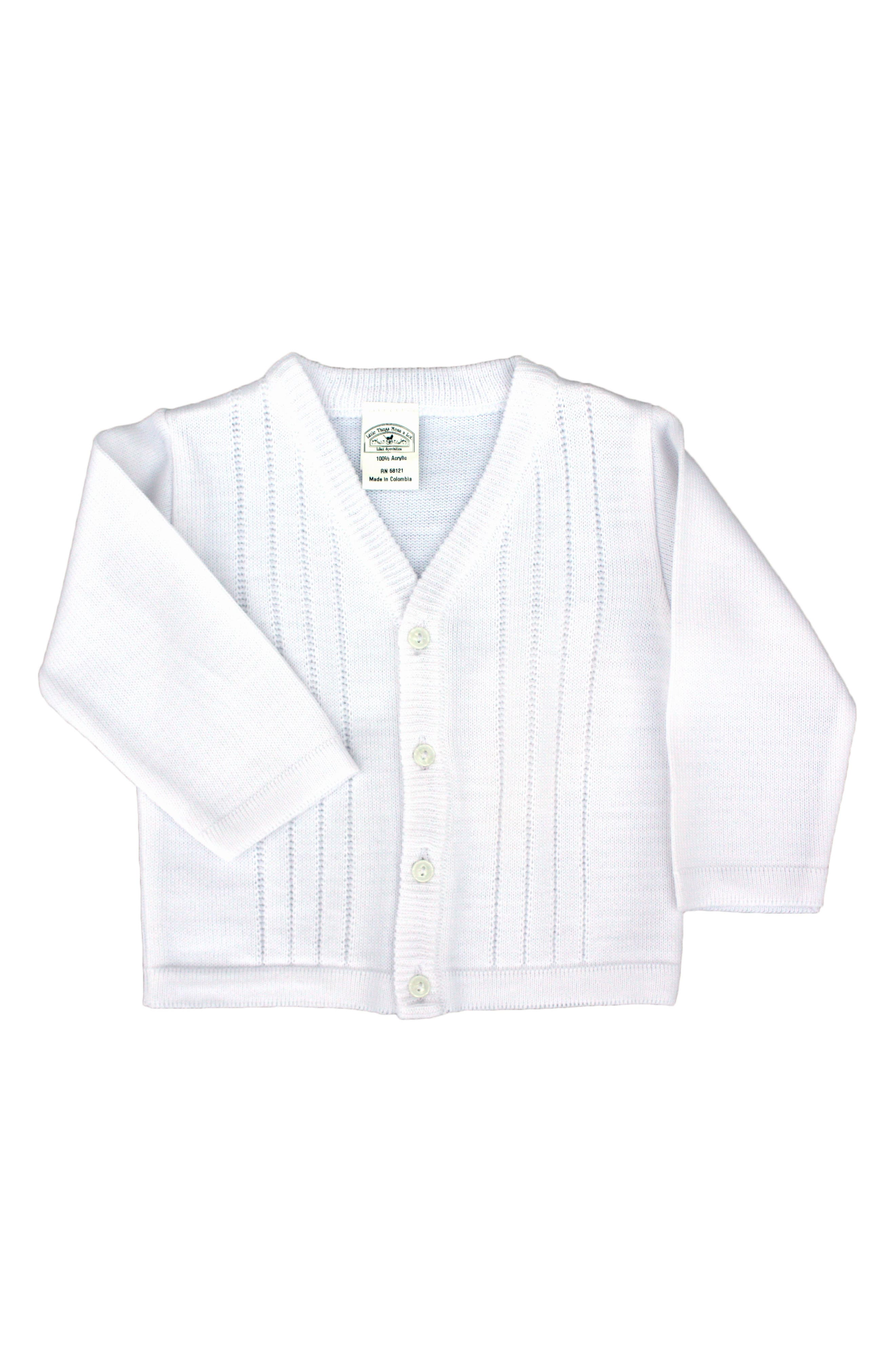 LITTLE THINGS MEAN A LOT, Cardigan, Main thumbnail 1, color, WHITE