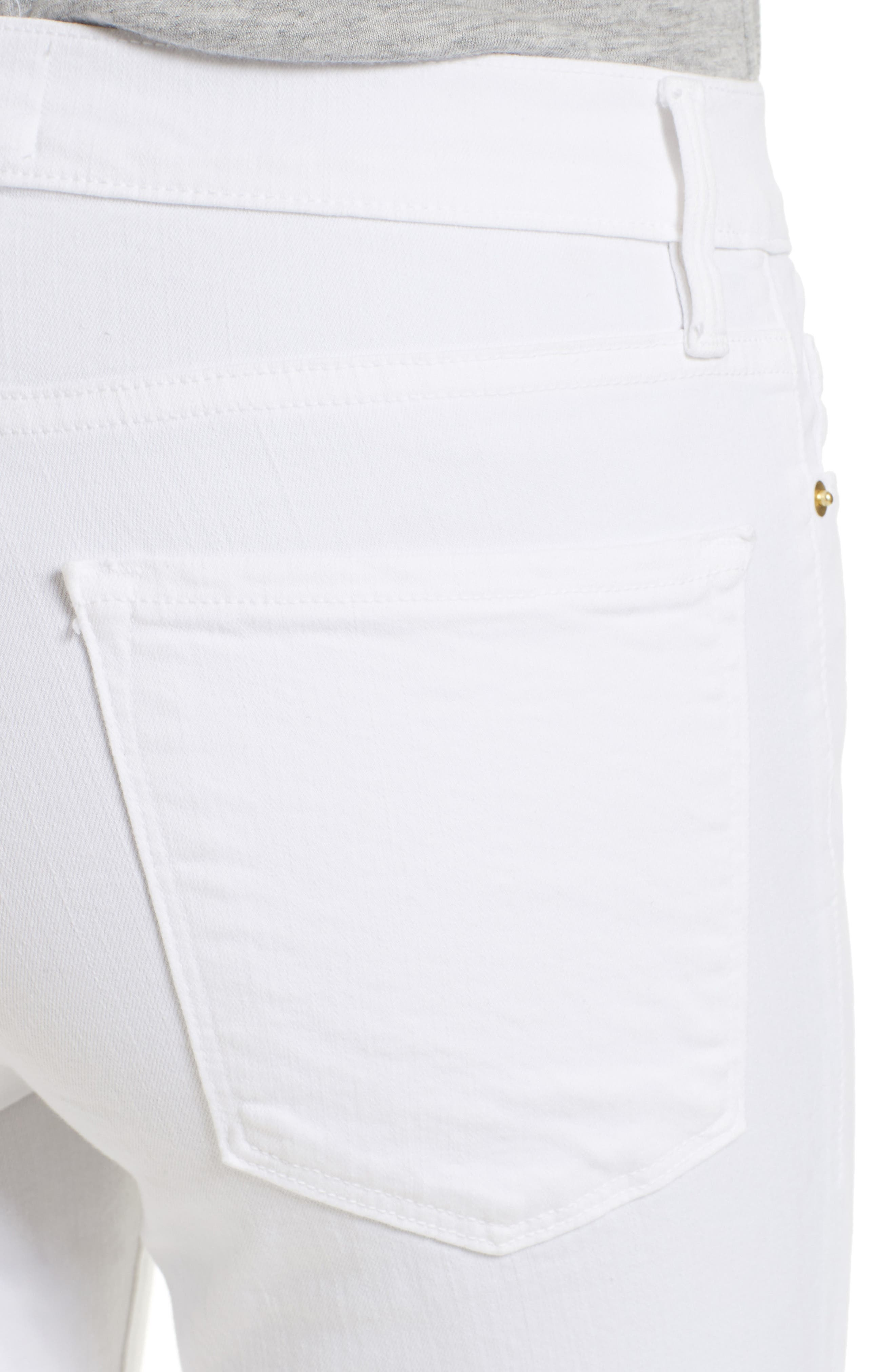 FRAME, Le Color Skinny Jeans, Alternate thumbnail 6, color, BLANC