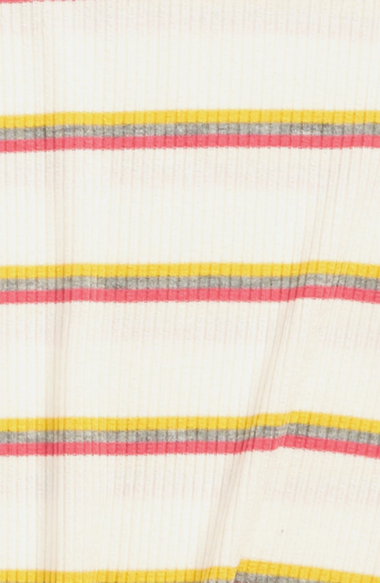 WALKING ON SUNSHINE, Stripe Twist Front Tee, Alternate thumbnail 2, color, IVORY PINK