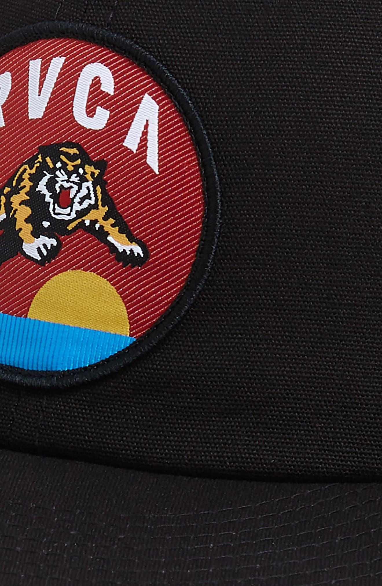 RVCA, Prowler Snapback Baseball Cap, Alternate thumbnail 3, color, BLACK