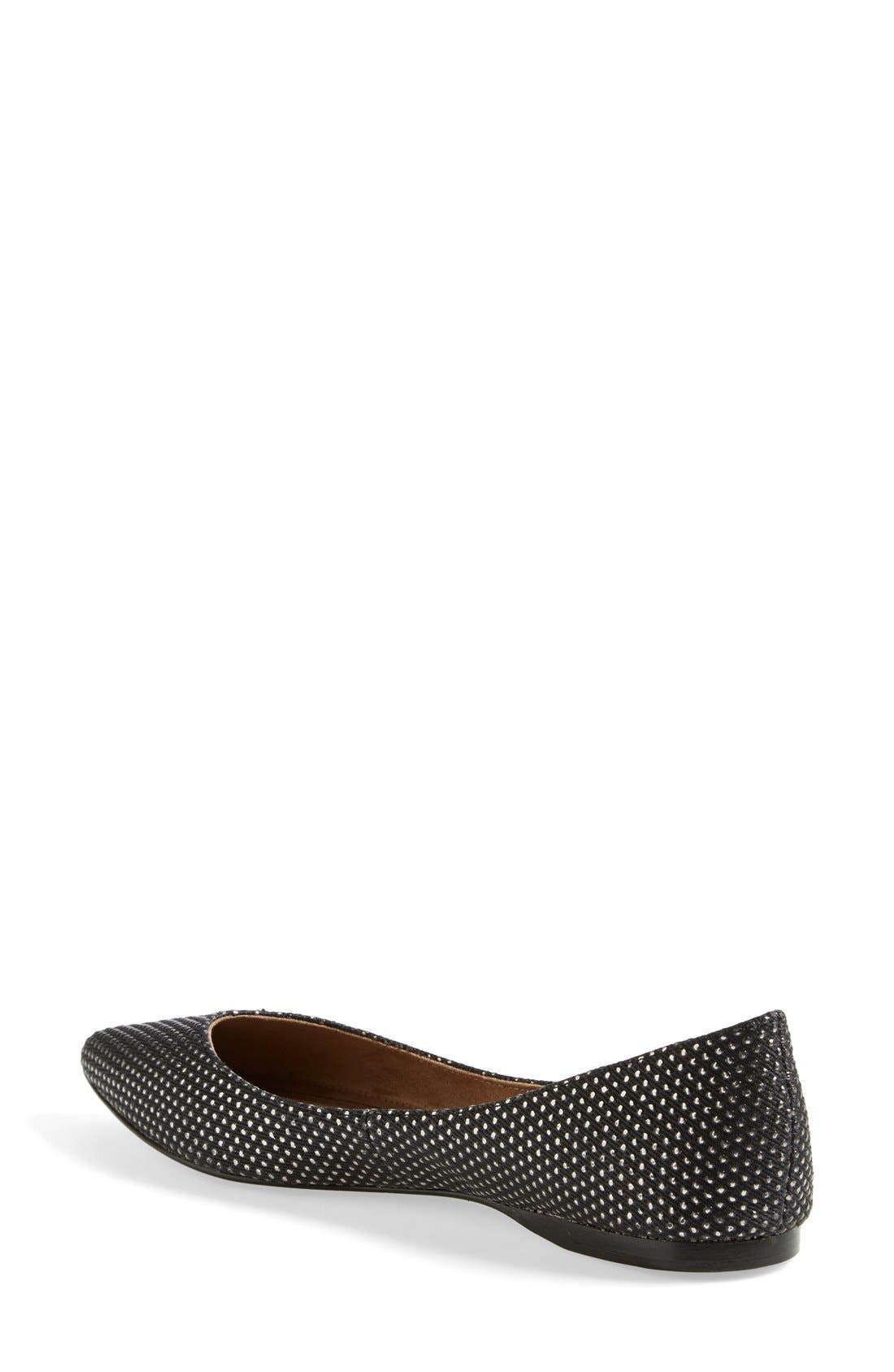 BP., 'Moveover' Pointy Toe Flat, Alternate thumbnail 4, color, 004