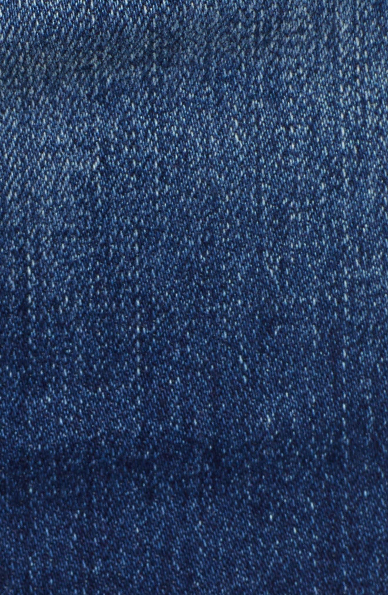 JAG JEANS, Hanna Stretch Straight Leg Jeans, Alternate thumbnail 6, color, MED INDIGO