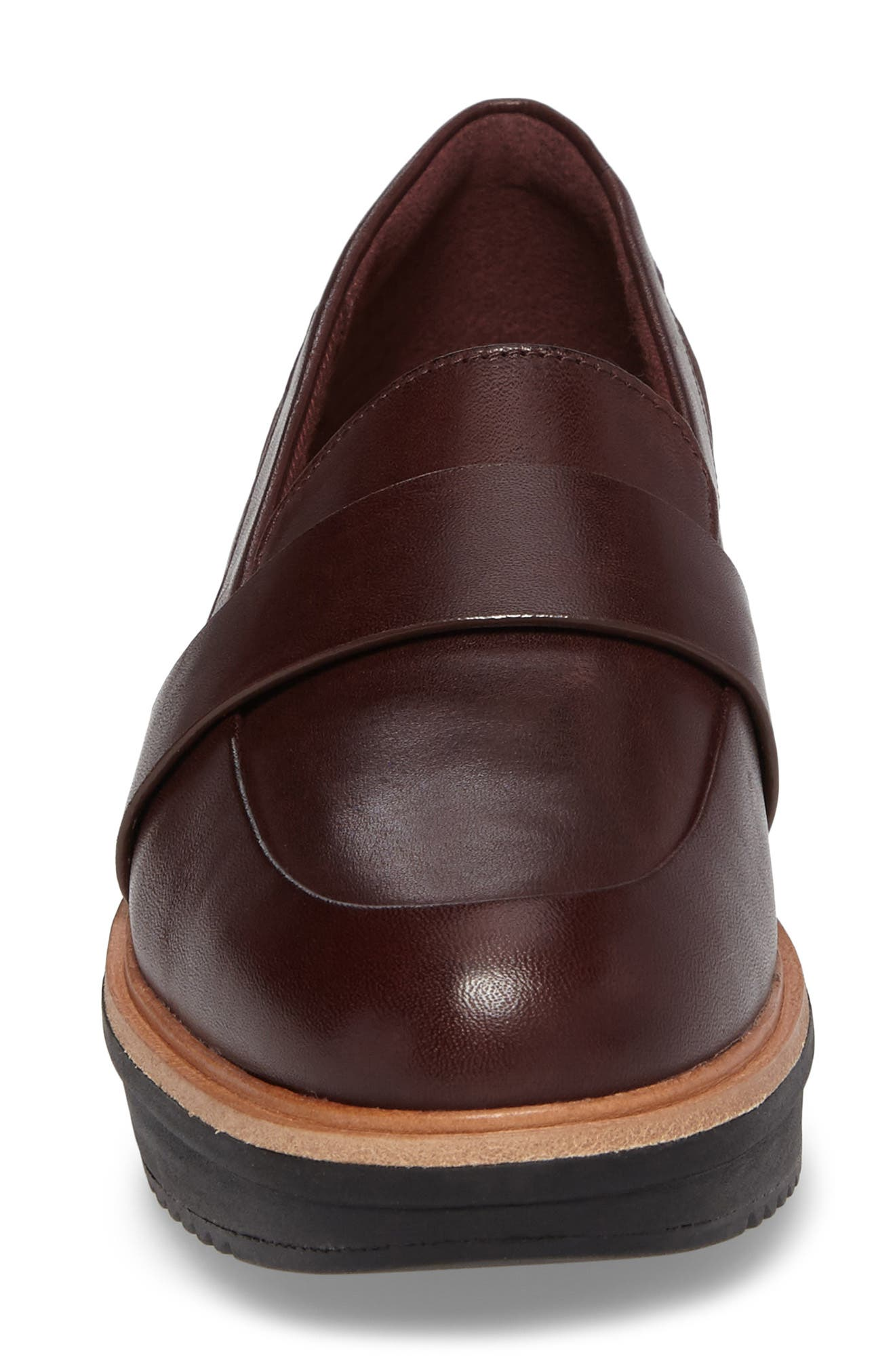 CLARKS<SUP>®</SUP>, Teadale Elsa Loafer, Alternate thumbnail 4, color, BURGUNDY LEATHER
