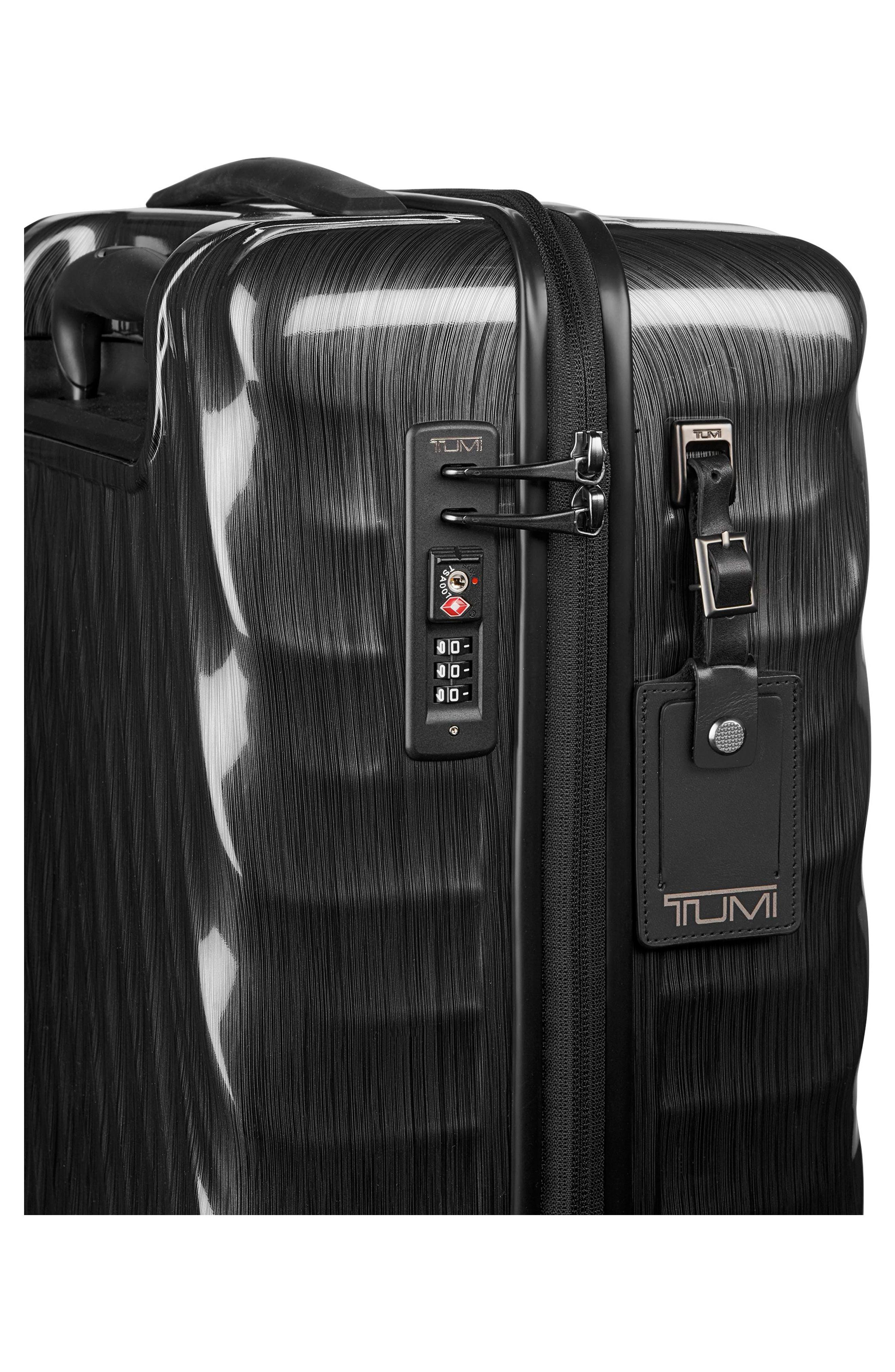 TUMI, 19 Degree 21-Inch International Wheeled Carry-On, Alternate thumbnail 3, color, 001