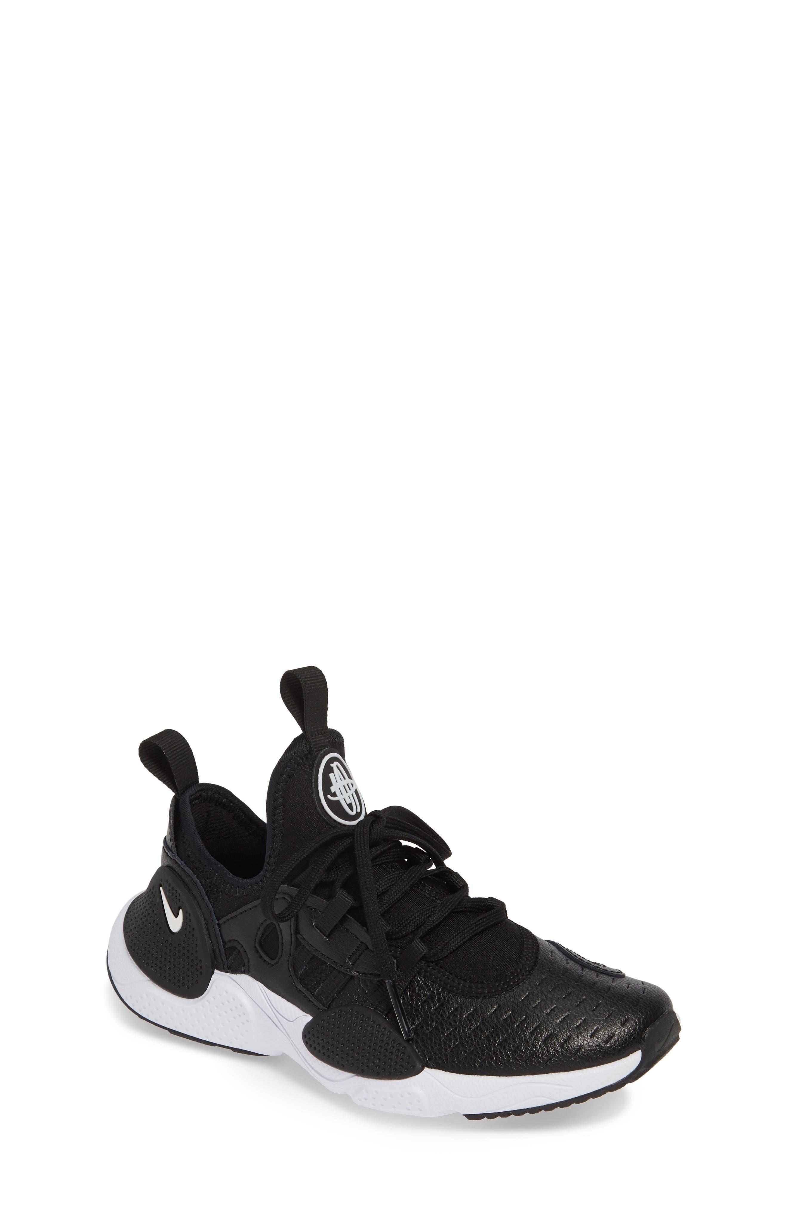 NIKE, Huarache E.D.G.E. Sneaker, Main thumbnail 1, color, BLACK/ WHITE