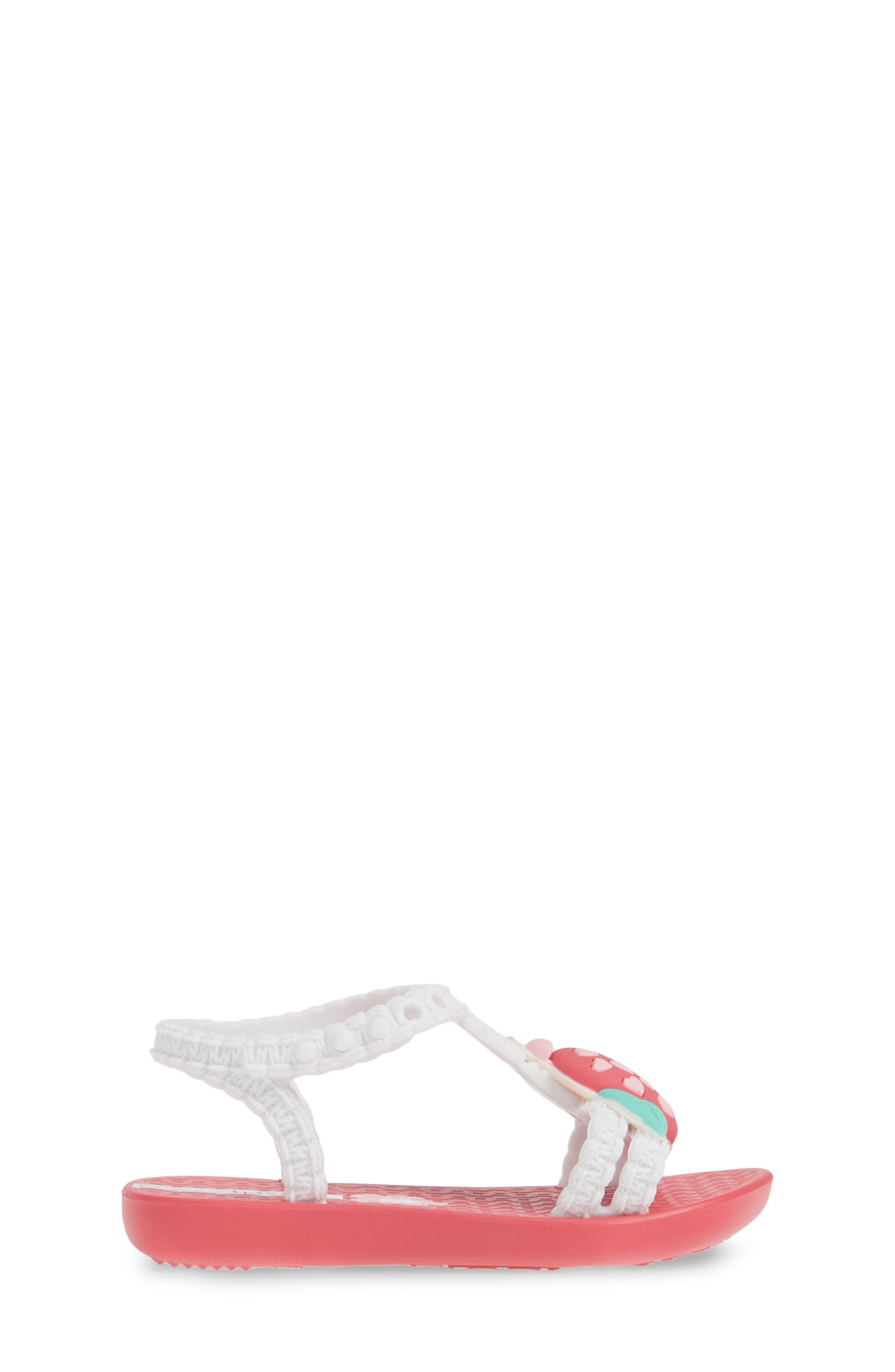IPANEMA, Buggy Baby Sandal, Alternate thumbnail 3, color, PINK/ WHITE