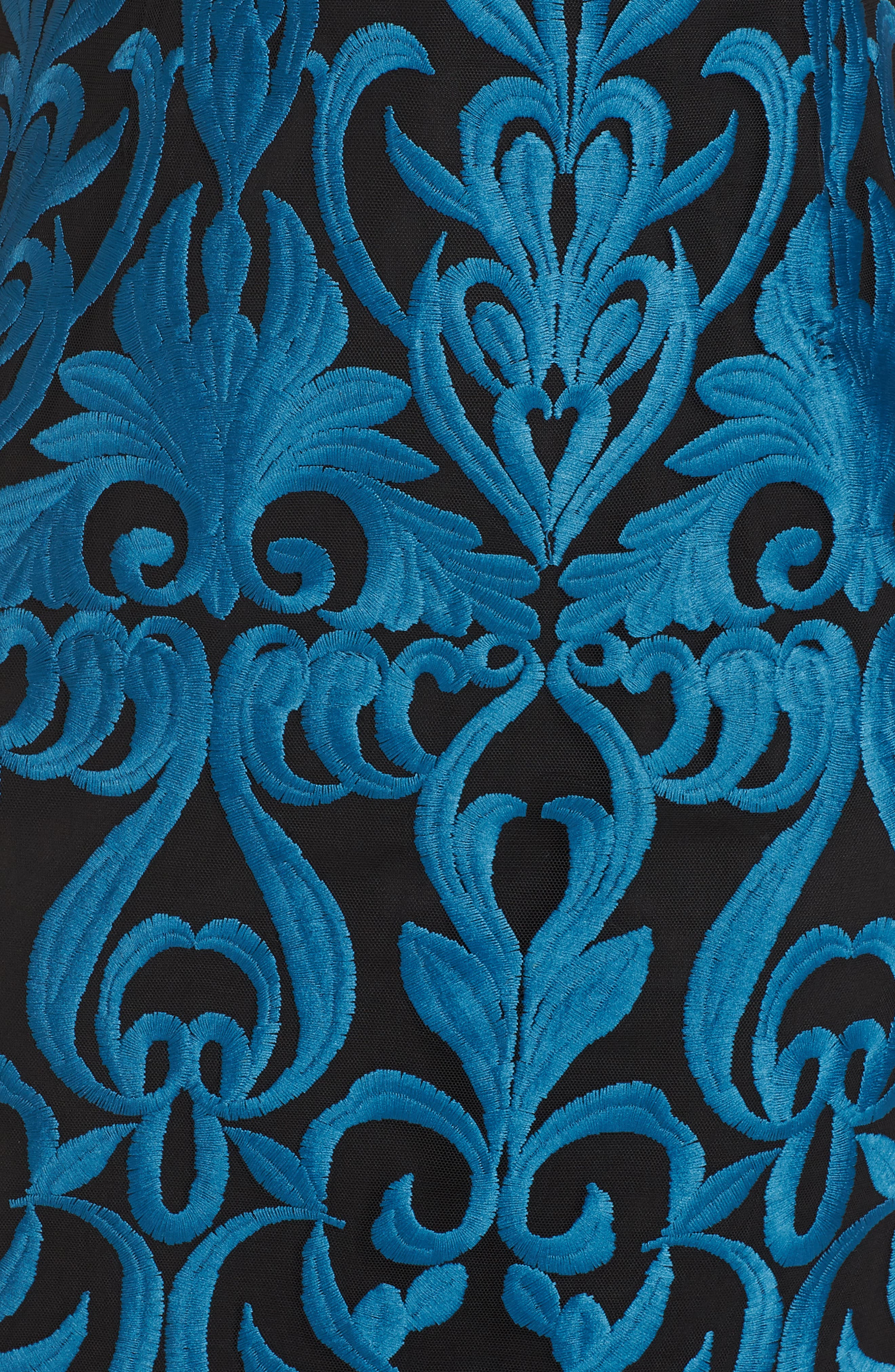 FOXIEDOX, Rosalynn Lace Midi Dress, Alternate thumbnail 6, color, 440