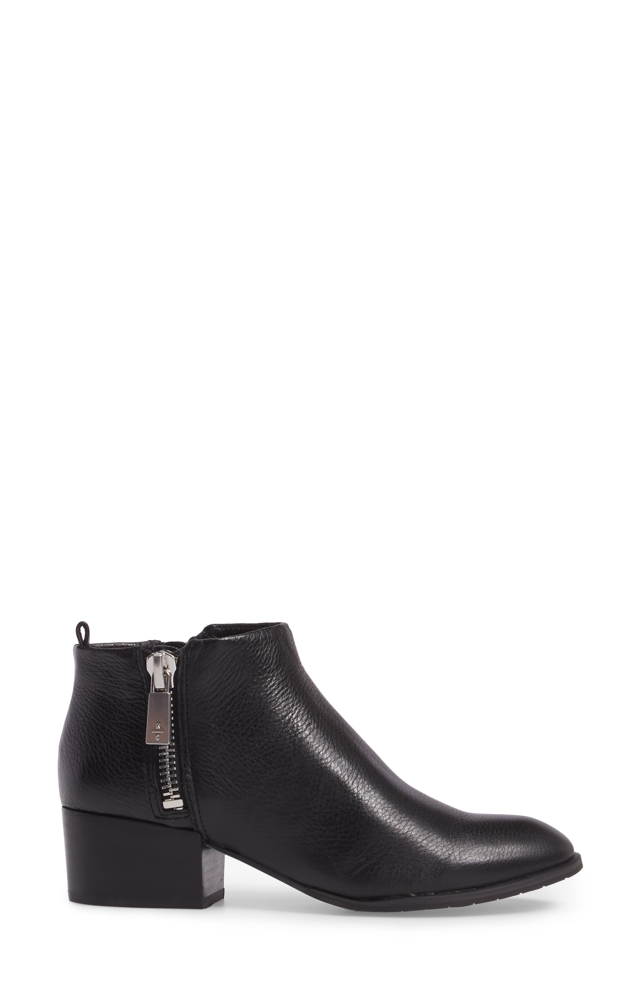 KENNETH COLE NEW YORK, Addy Bootie, Alternate thumbnail 3, color, 001
